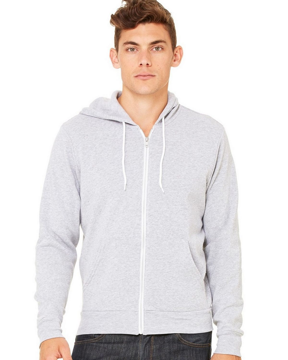 Bella + Canvas C3739 Unisex Full-Zip Hoodie - Heather True Royal - XL C3739