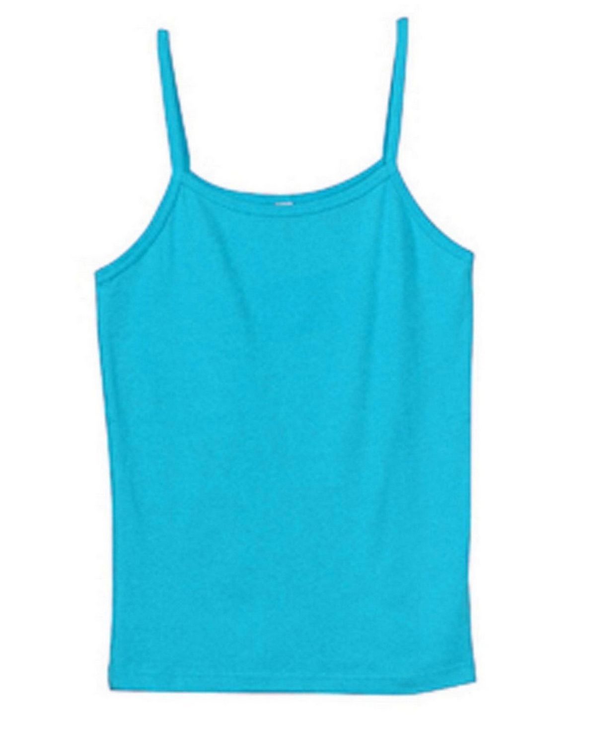 Bella + Canvas 1011 Ladies Stretch Rib Spaghetti Strap Tank - Turquoise - XL 1011