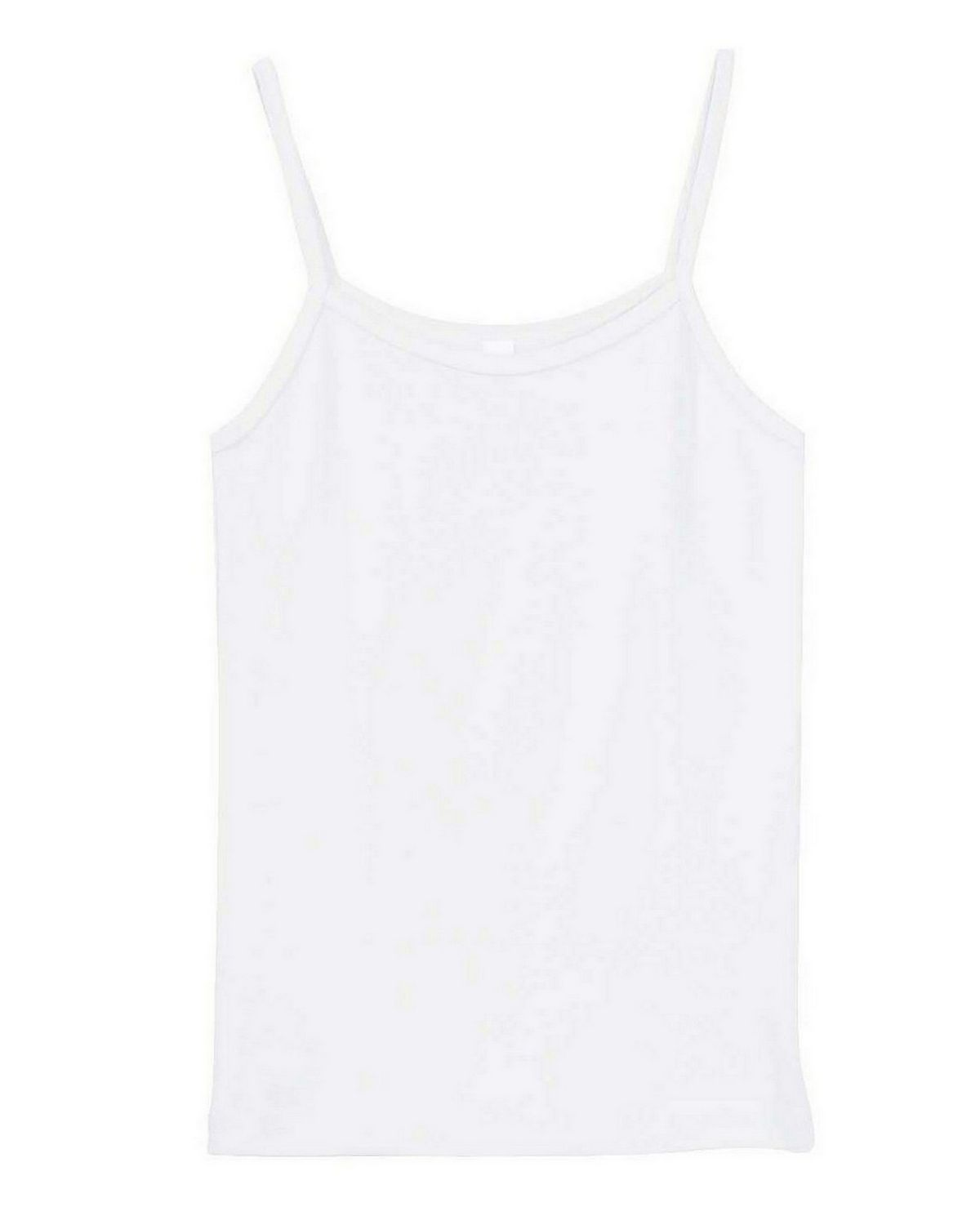 Bella + Canvas 1011 Ladies Stretch Rib Spaghetti Strap Tank - White - S 1011