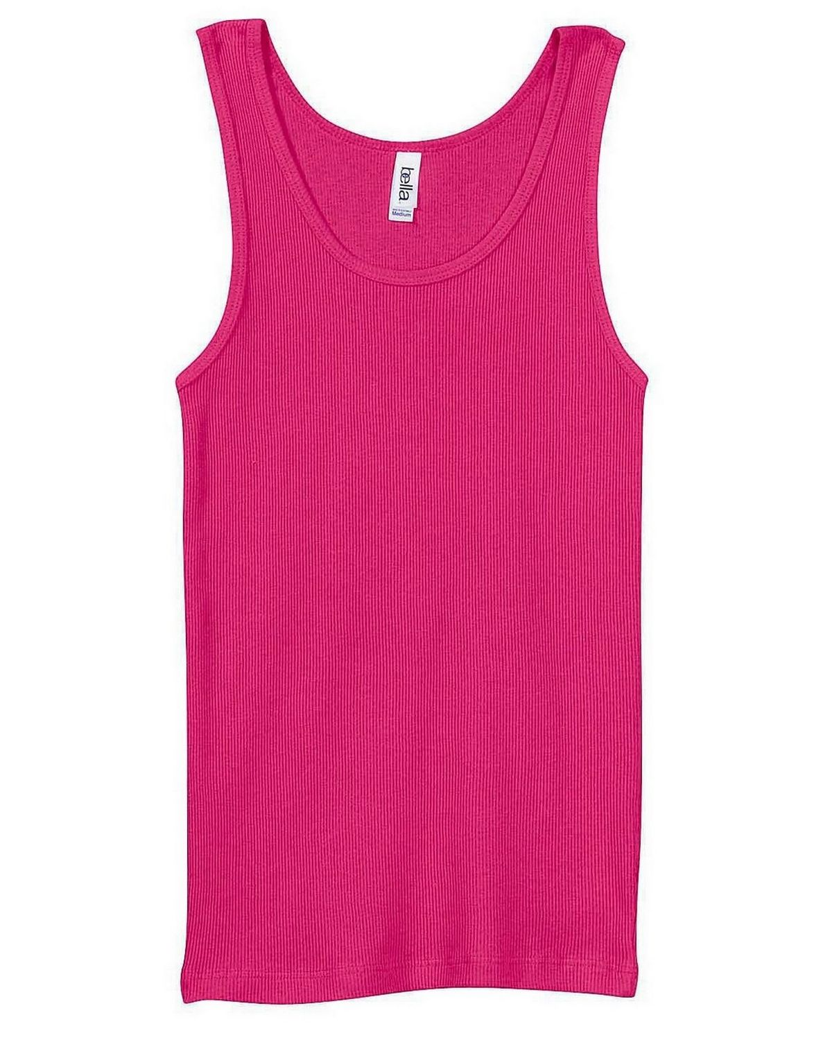Bella + Canvas 4000 Ladies 2x1 Rib Tank - Berry - L 4000