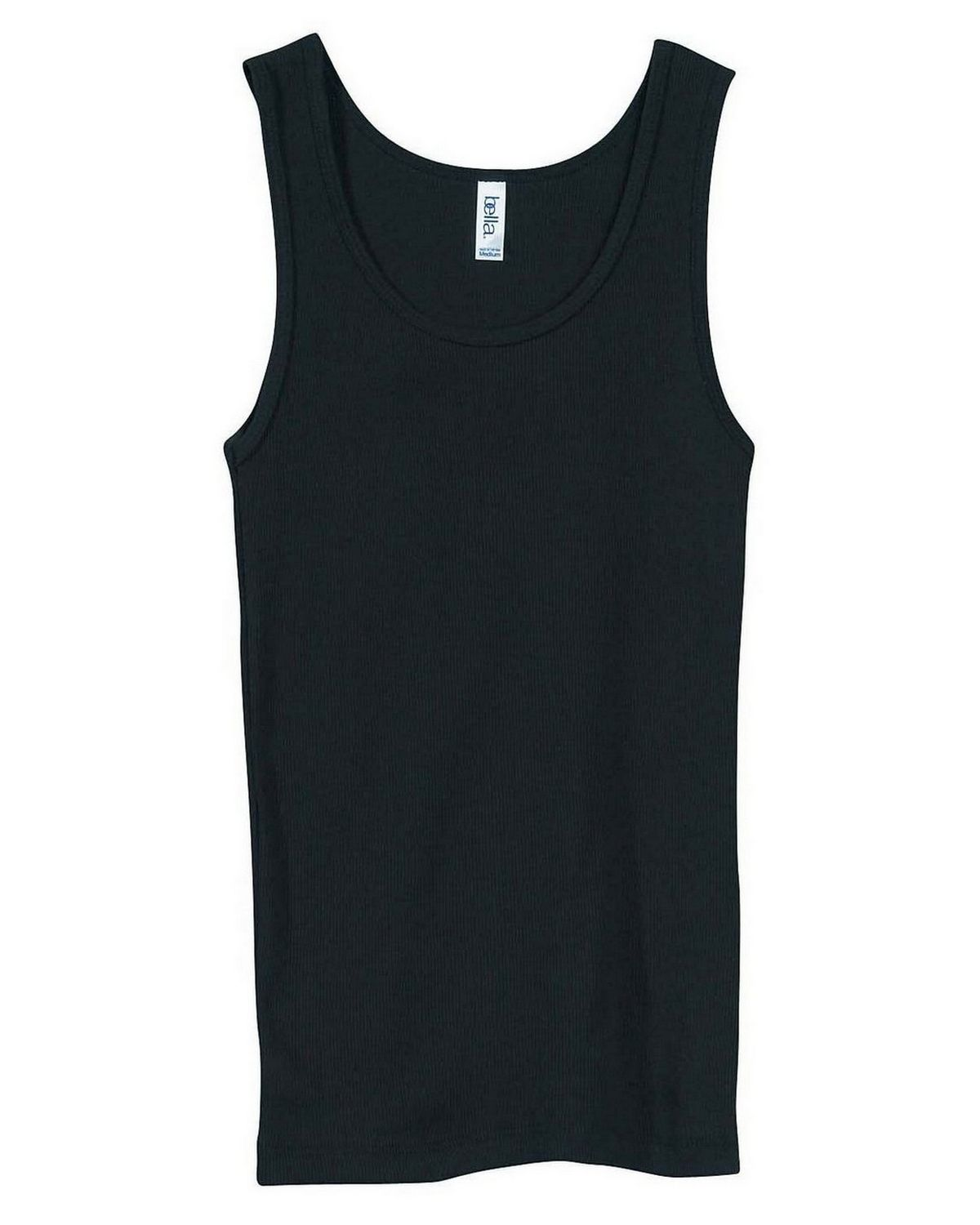 Bella + Canvas 4000 Ladies 2x1 Rib Tank - Black - M 4000