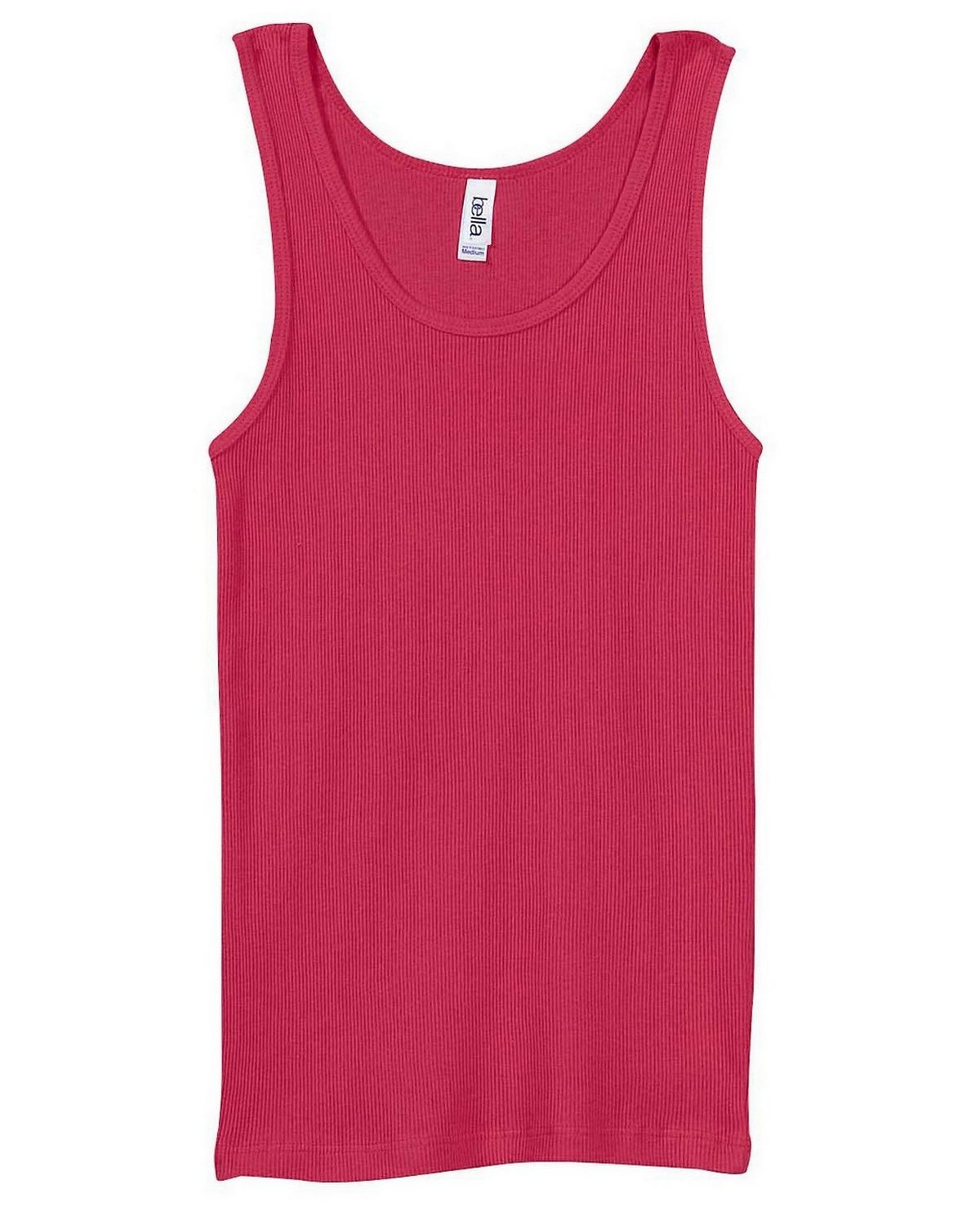 Bella + Canvas 4000 Ladies 2x1 Rib Tank - Raspberry - XL 4000