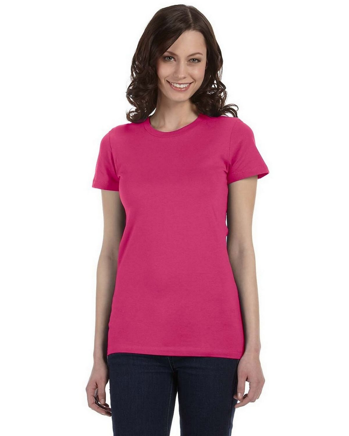Bella + Canvas 6004 Ladies The Favorite T-Shirt - Berry - L 6004