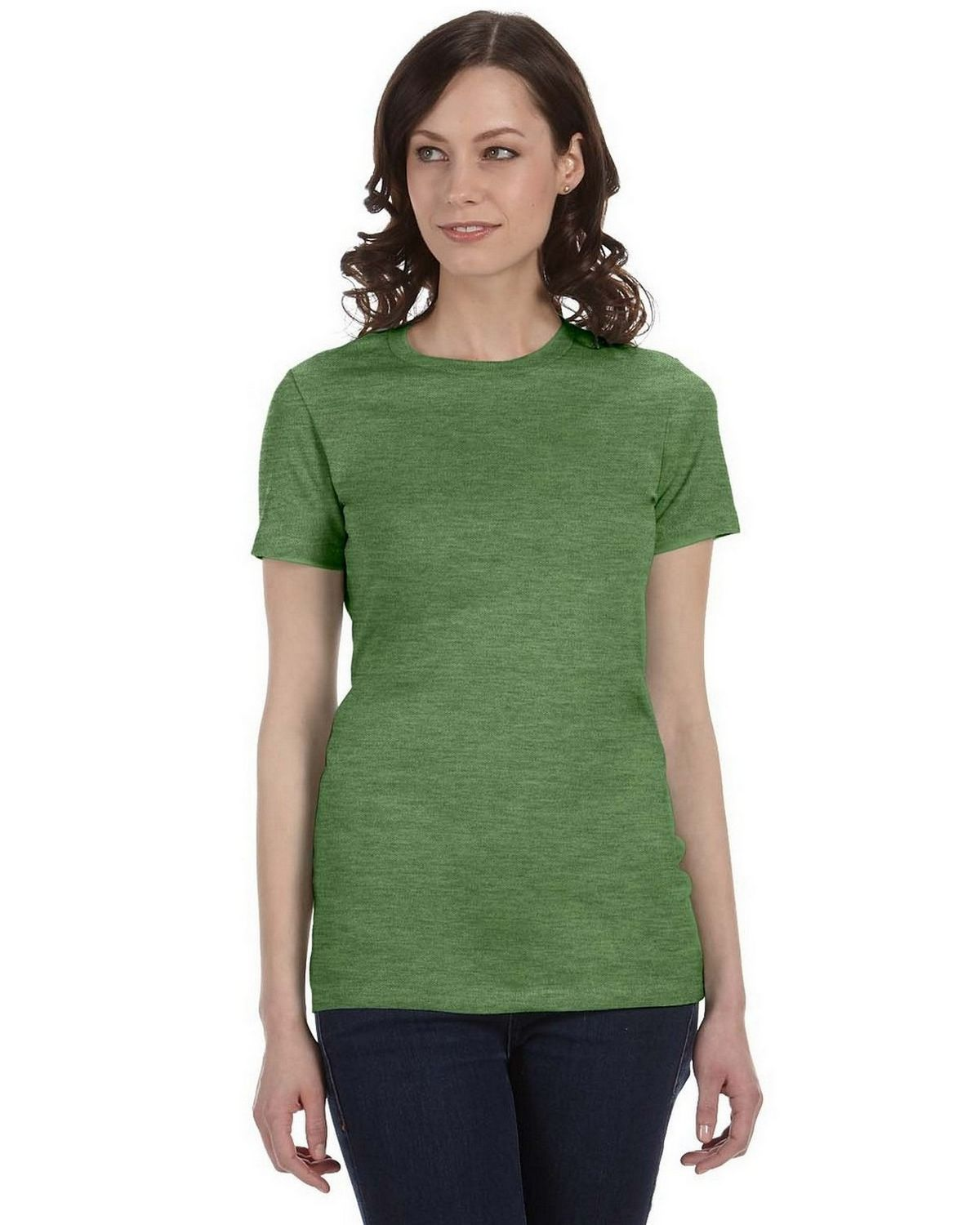 Bella + Canvas 6004 Ladies The Favorite T-Shirt - Heather Green - L 6004