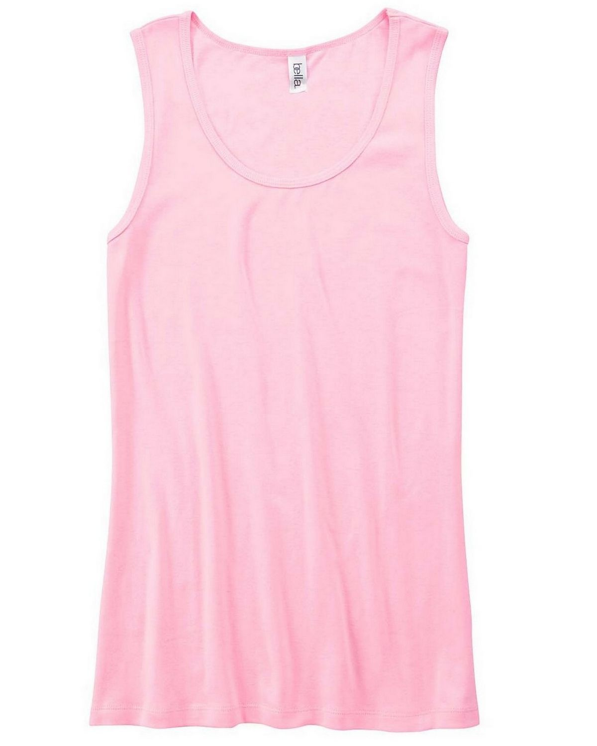 Bella + Canvas 6480 Ladies Missy Widestrap Baby Rib Tank - Pink - S 6480