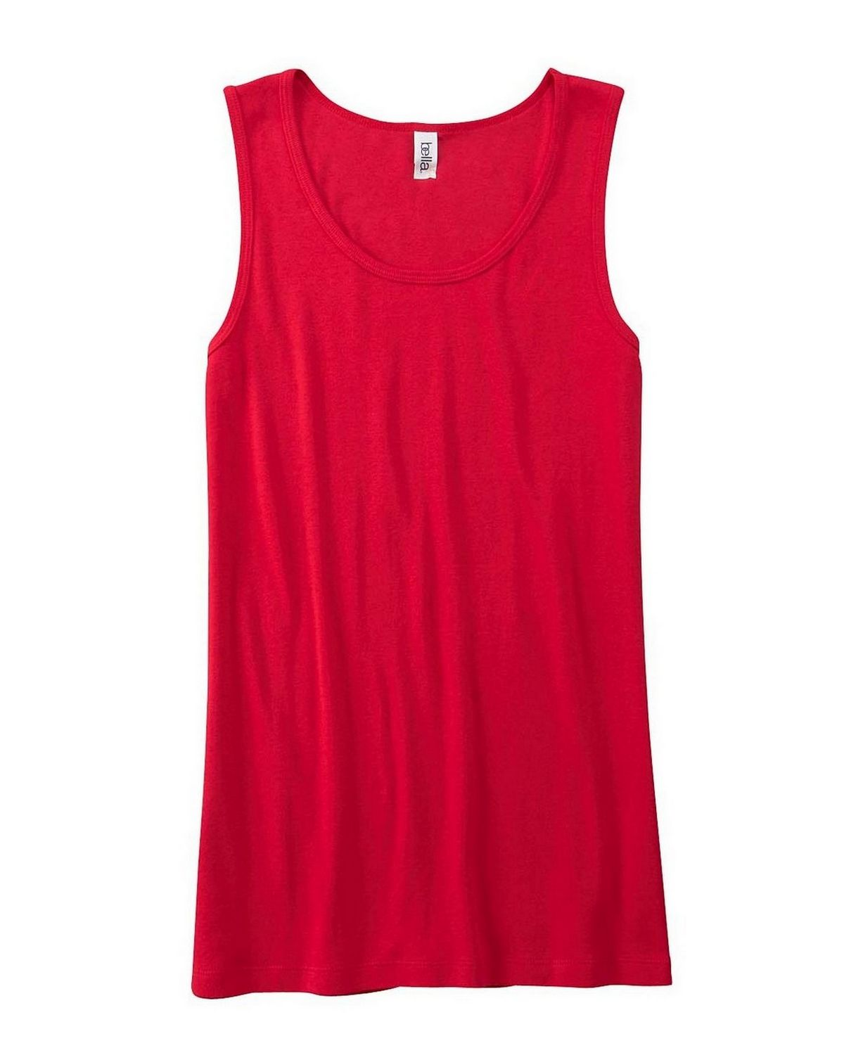 Bella + Canvas 6480 Ladies Missy Widestrap Baby Rib Tank - Red - L 6480