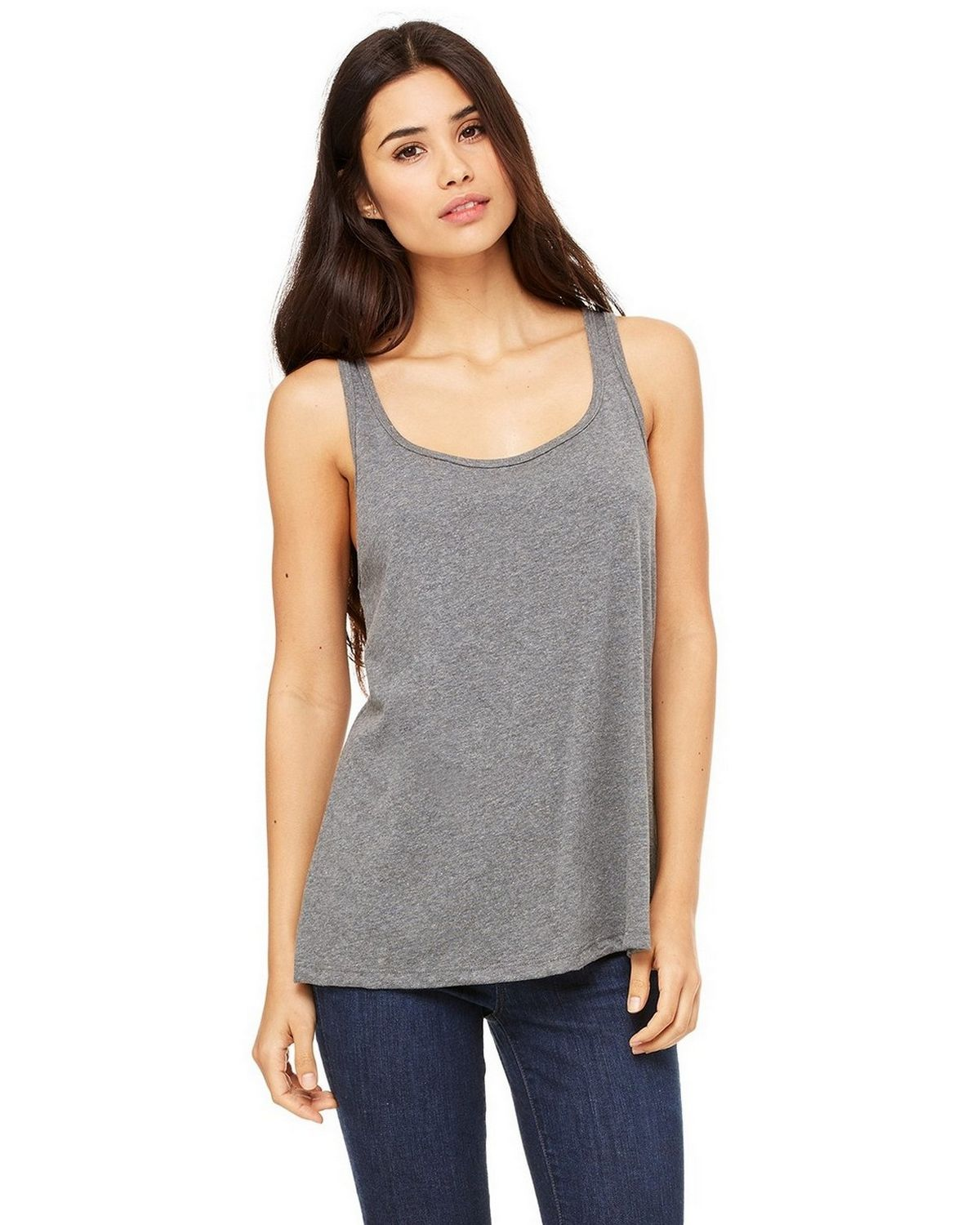 Bella + Canvas 6488 Ladies Jersey Tank - Deep Heather - S 6488