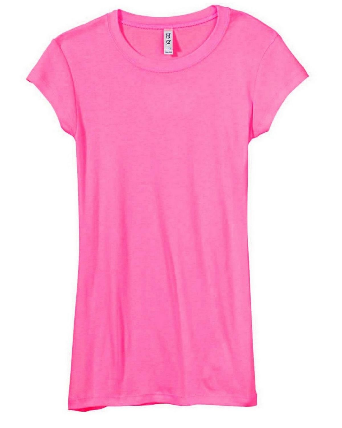 Bella + Canvas 8701 Ladies Kimberley Sheer Rib Longer-Length T-Shirt - Berry - M 8701