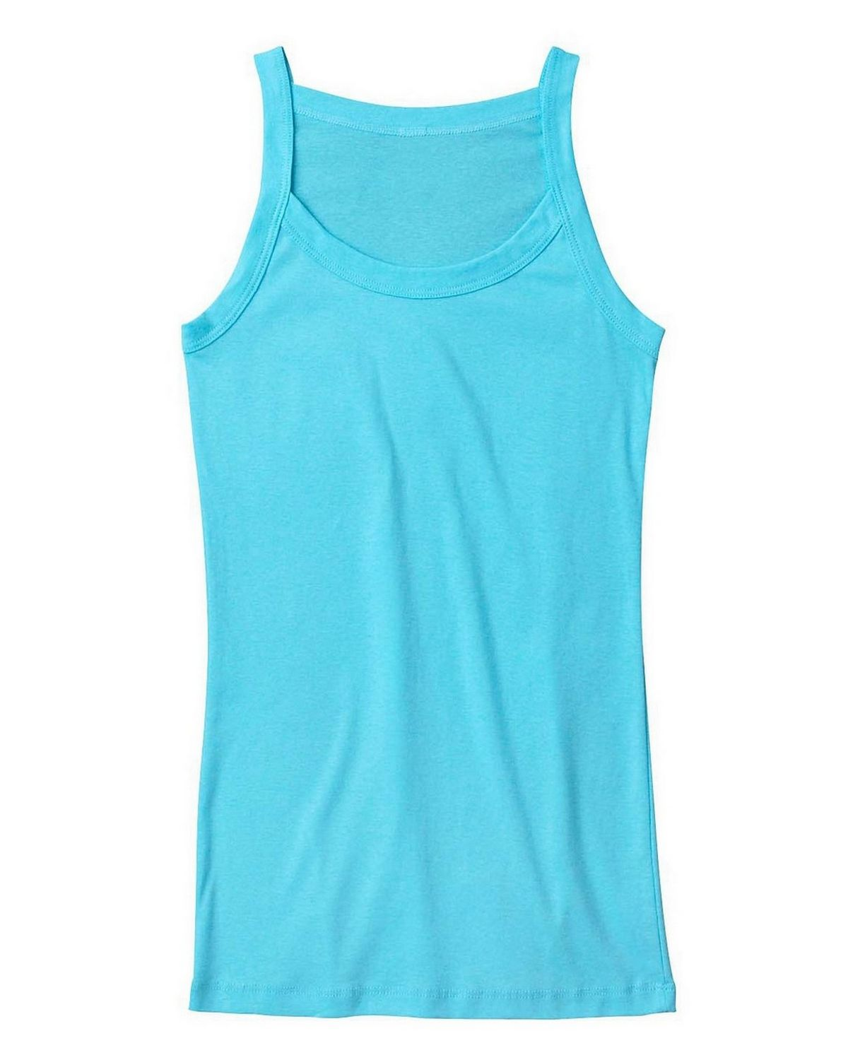 Bella + Canvas 8711 Ladies Catrina Sheer Rib Tank - Light Aqua - S 8711