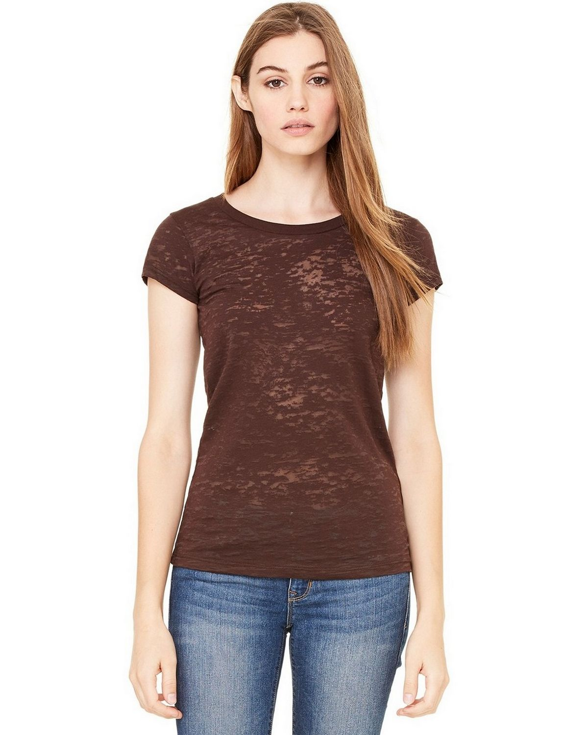 Bella + Canvas B8601 Burnout Tee - Chocolate - XL B8601