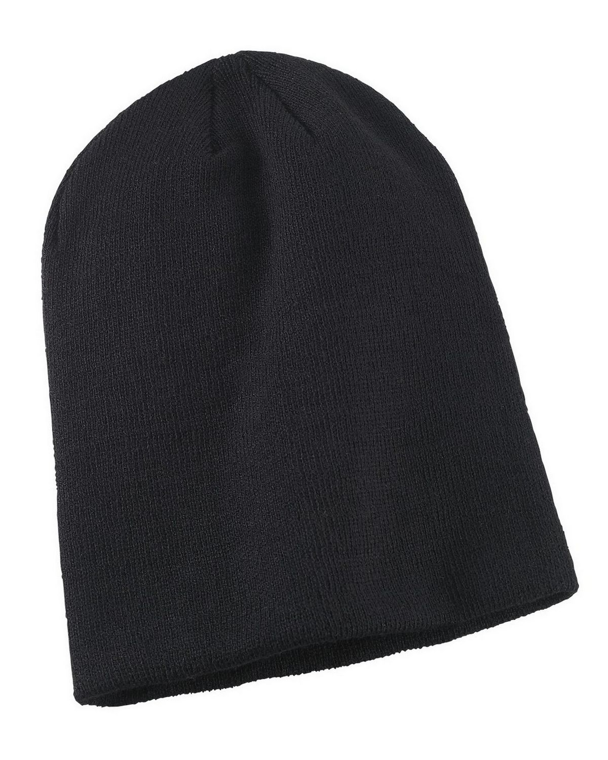 Big Accessories BA519 Slouch Beanie - Black - One Size BA519
