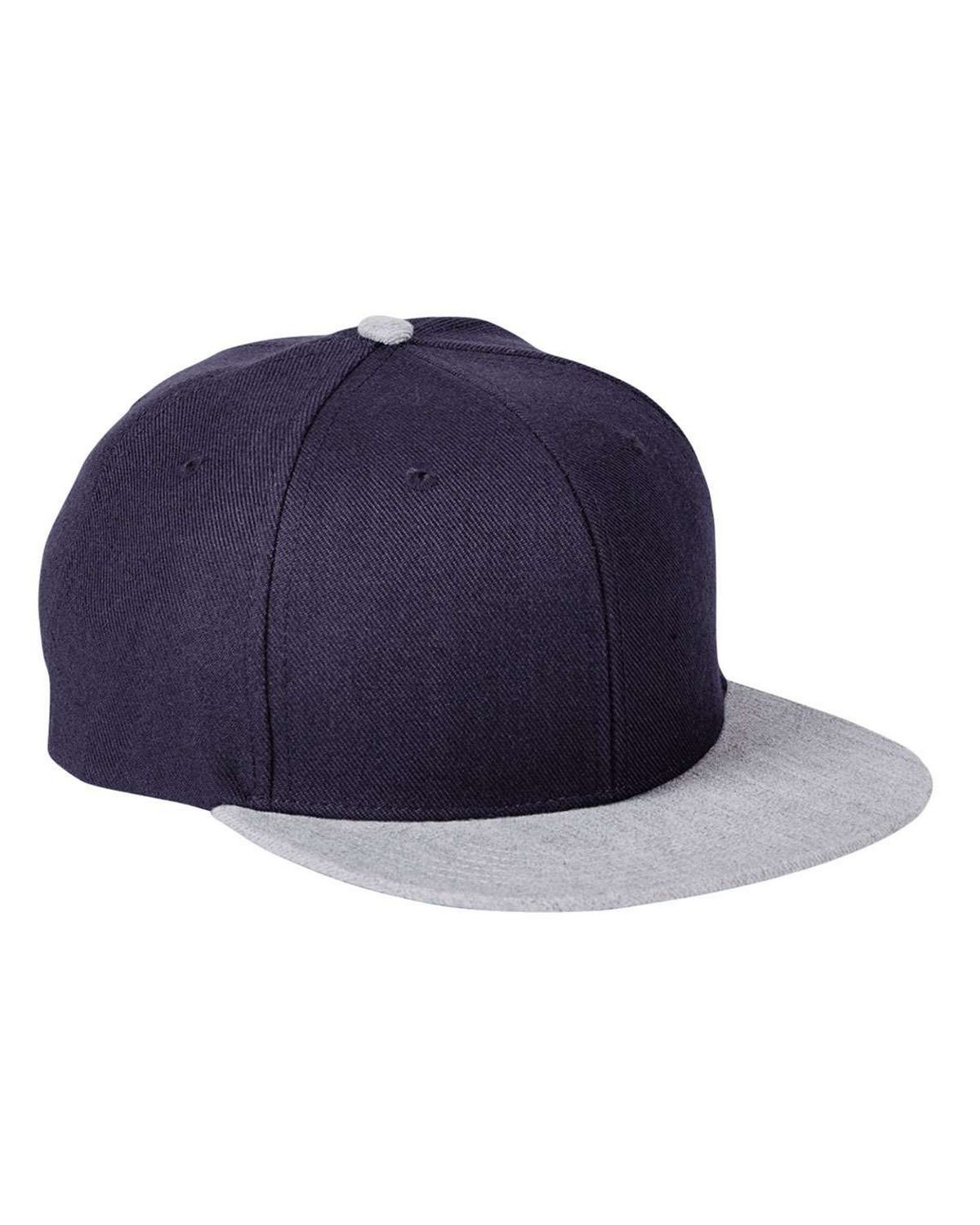 Big Accessories BA539 Sport Cap - Navy/ Hthr Gray - One Size BA539