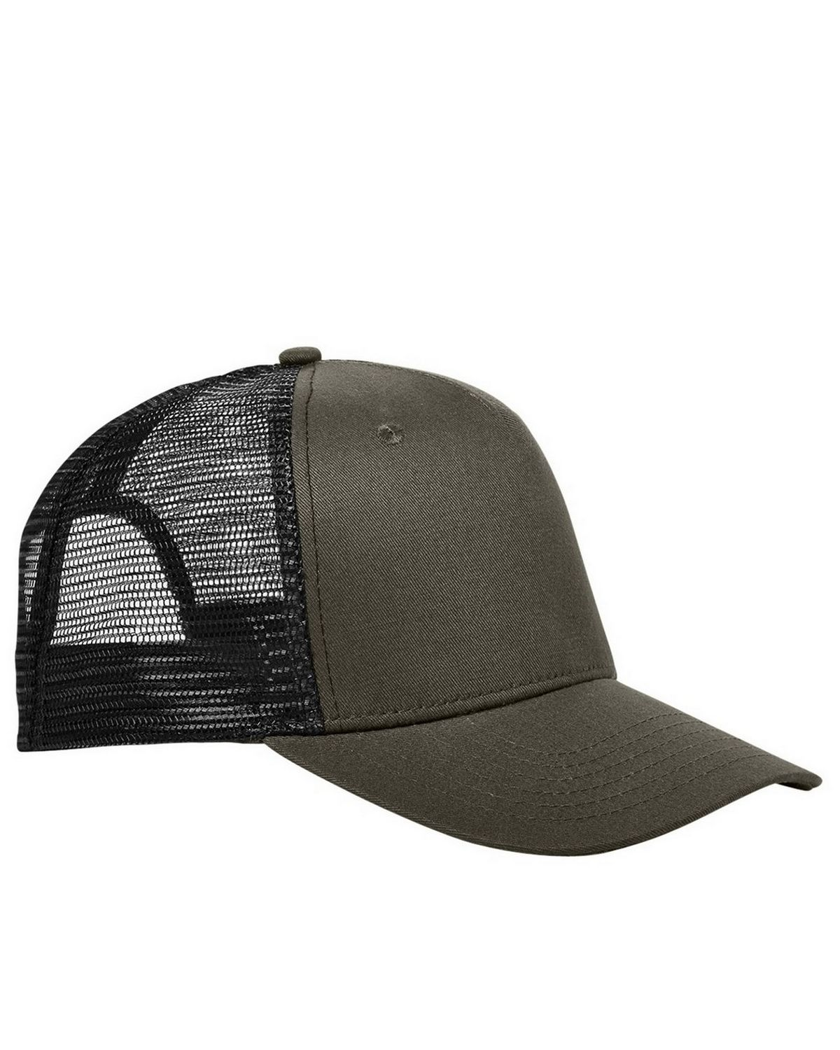 Big Accessories BX025 Surfer Trucker Cap - Olive/Black - One Size BX025
