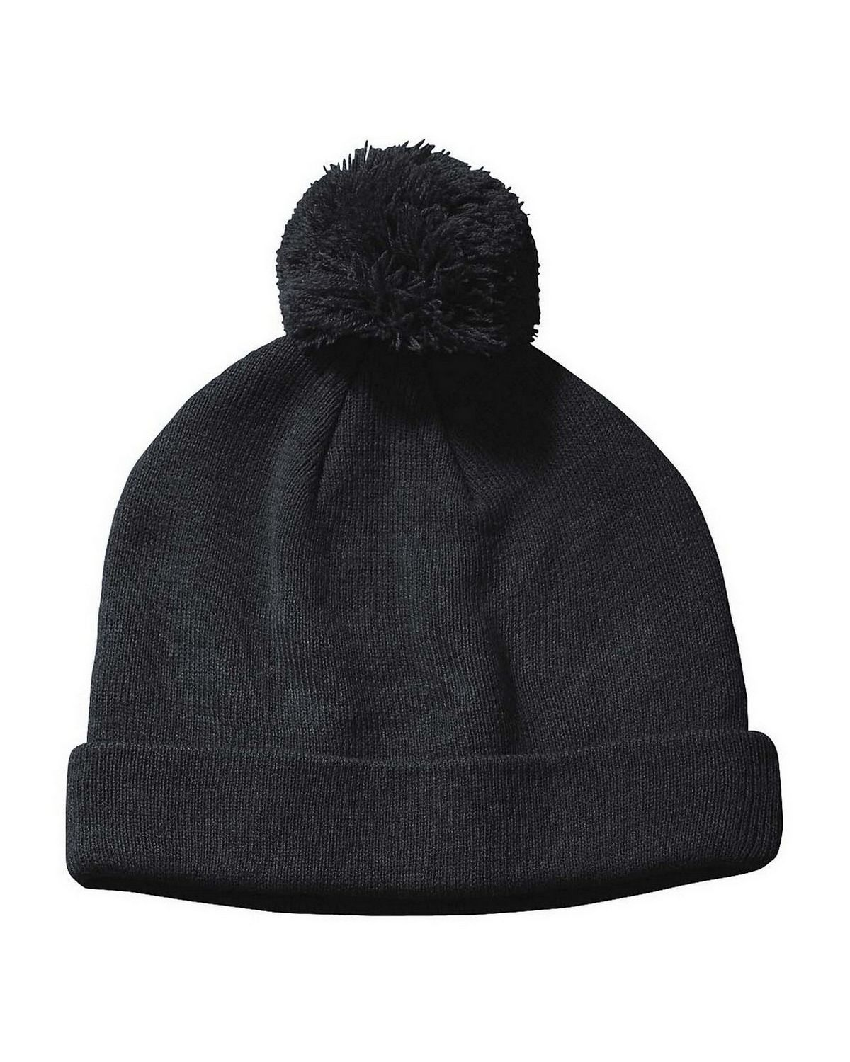 Big Accessories BX028 Knit Pom Beanie - Grey - One Size BX028