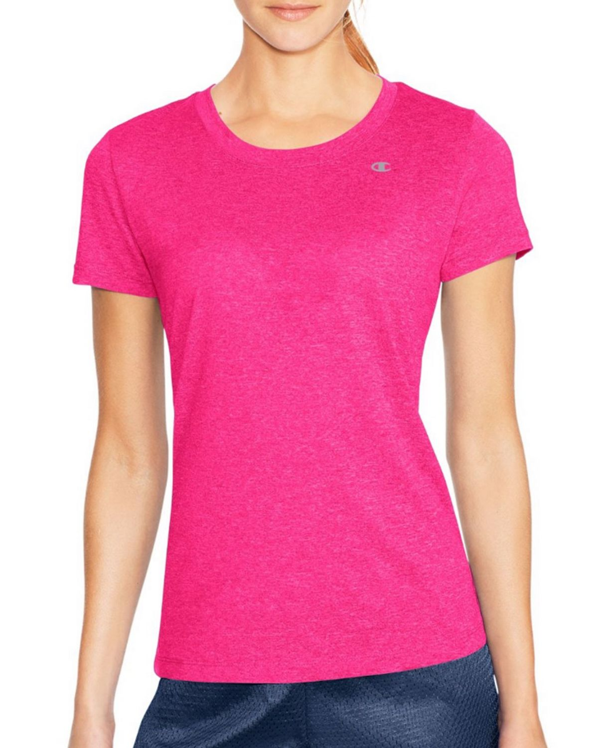 Champion 7963 Vapor PowerTrain Short Sleeve Heather Tee - Pop Art Pink Heather - M 7963