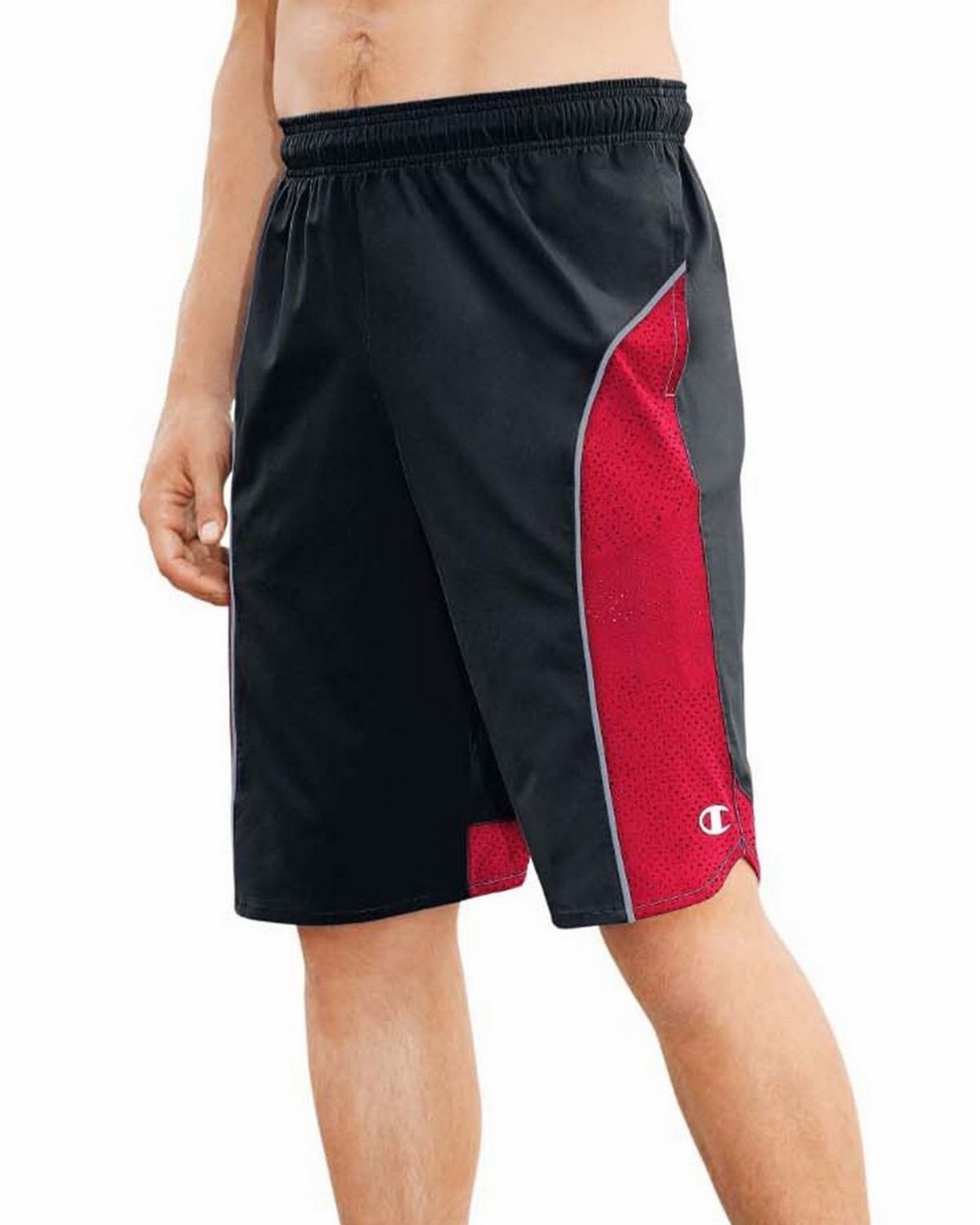 Champion 80297 Best Woven Shorts - Black/Scarlet/Concrete - S 80297