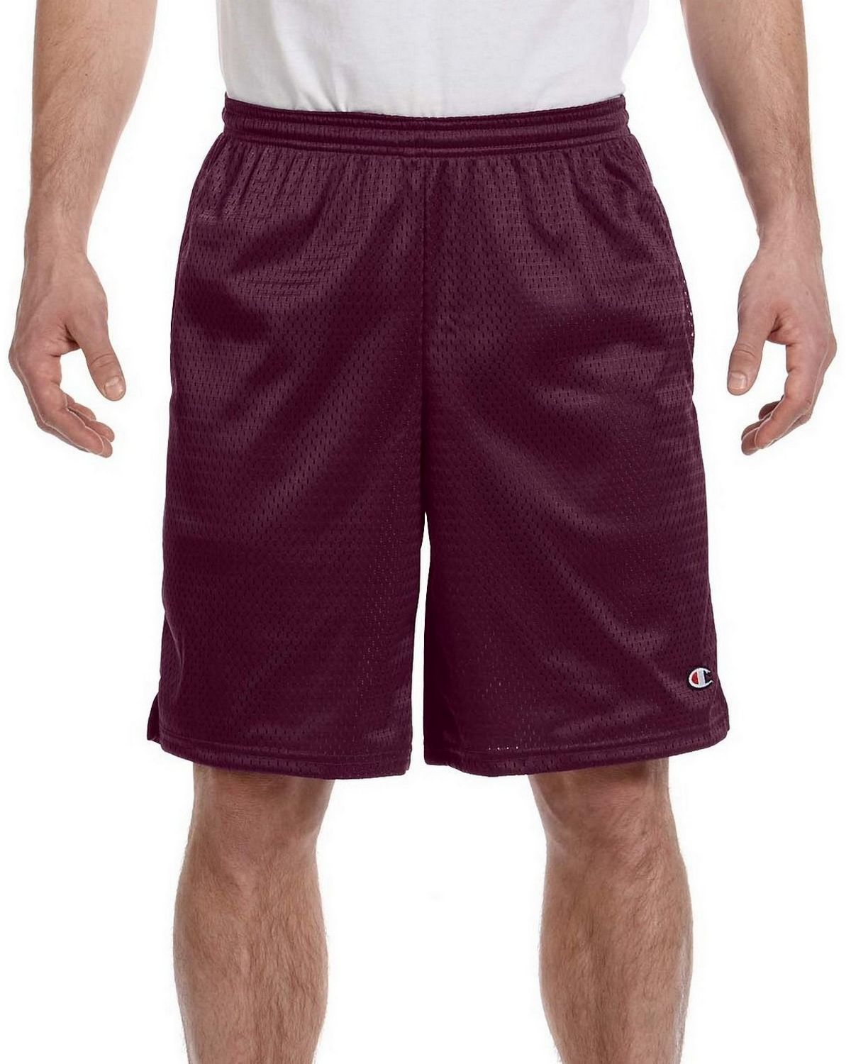 Champion 81622 Shorts with Pockets - Maroon - L 81622