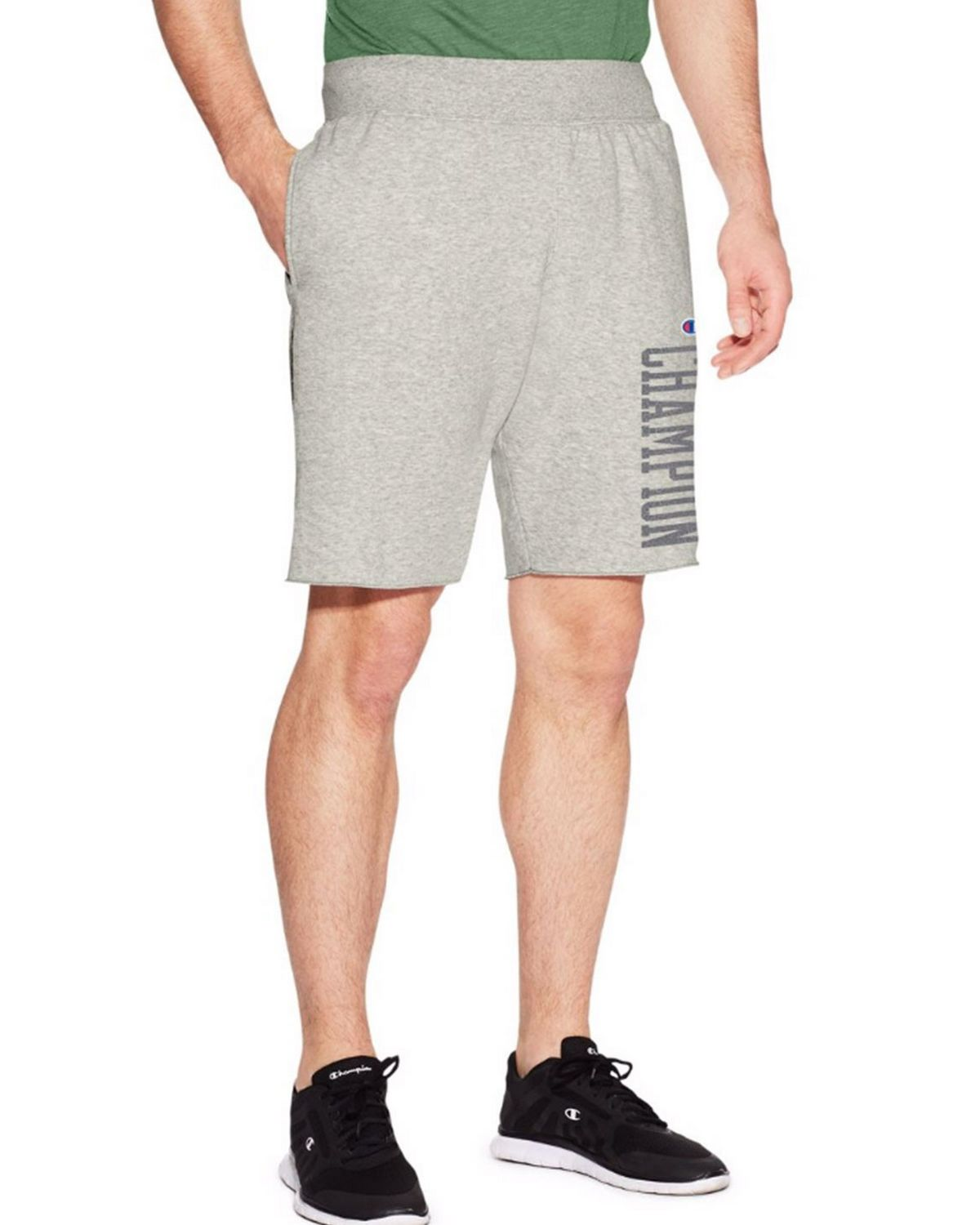 Champion 829781 Men Heritage Short - Oxford Grey - L 829781