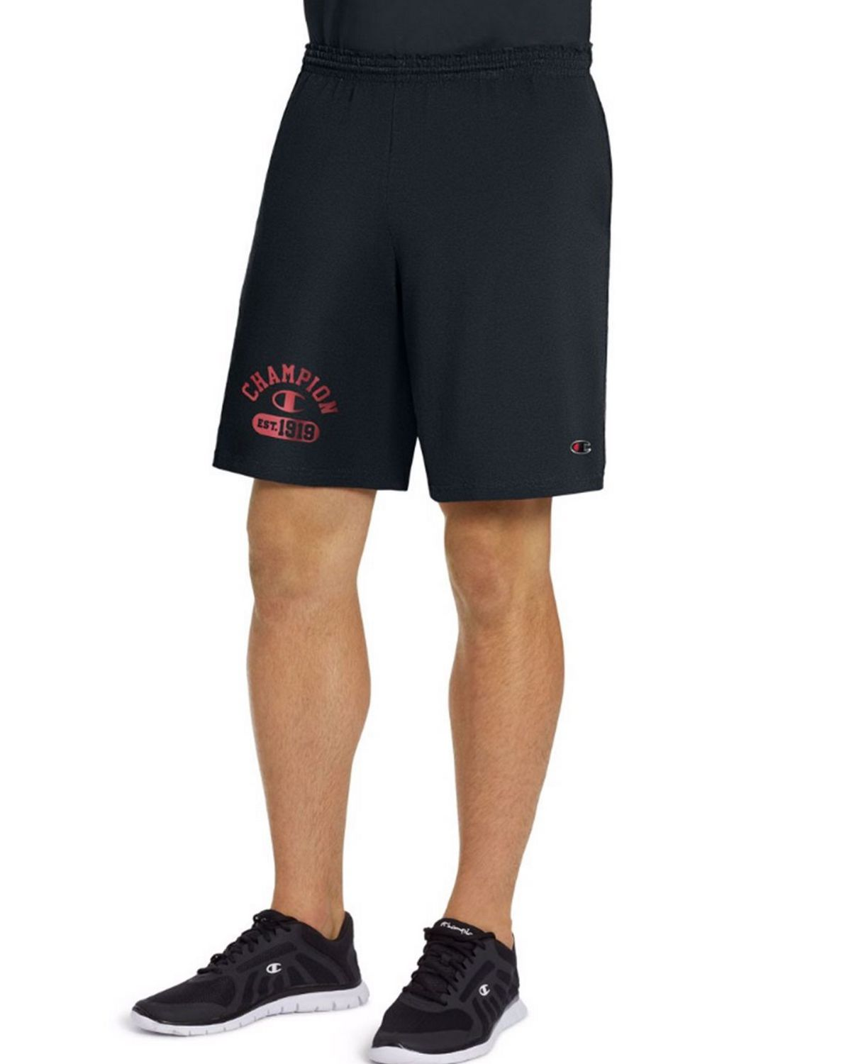 Champion 85653G Mens Graphic Shorts - Granite Heather - XL 85653G