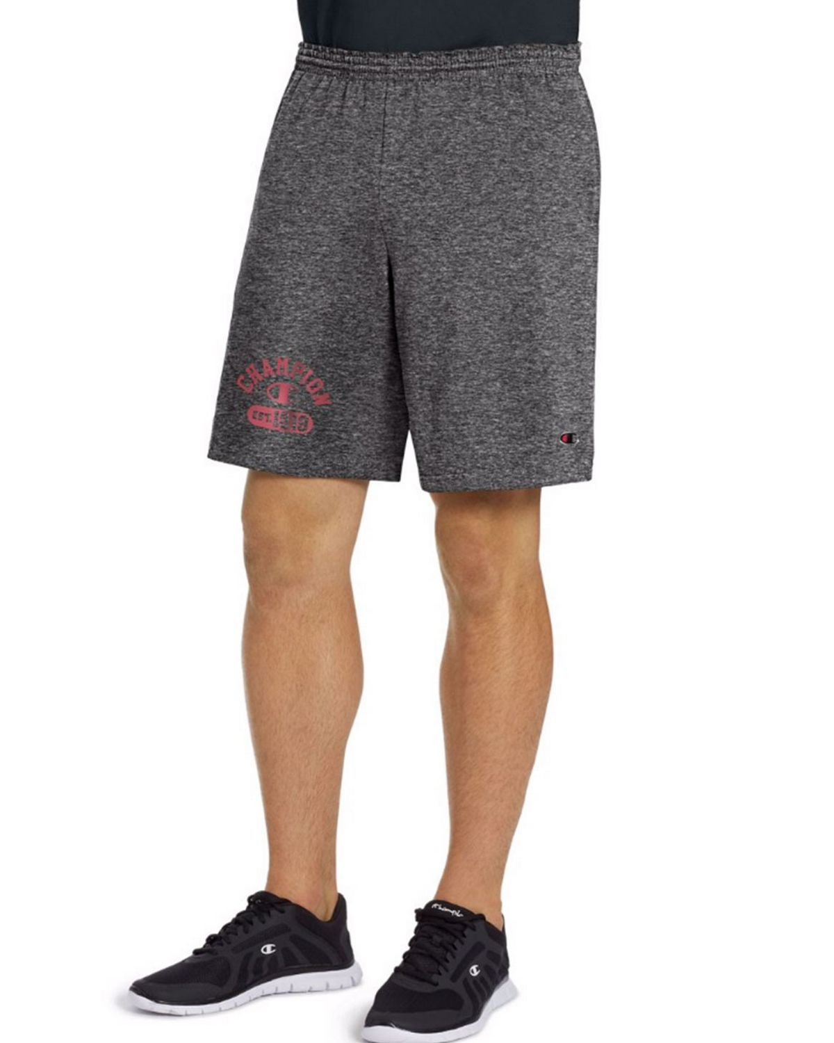 Champion 85653G Mens Graphic Shorts - Granite Heather - S 85653G