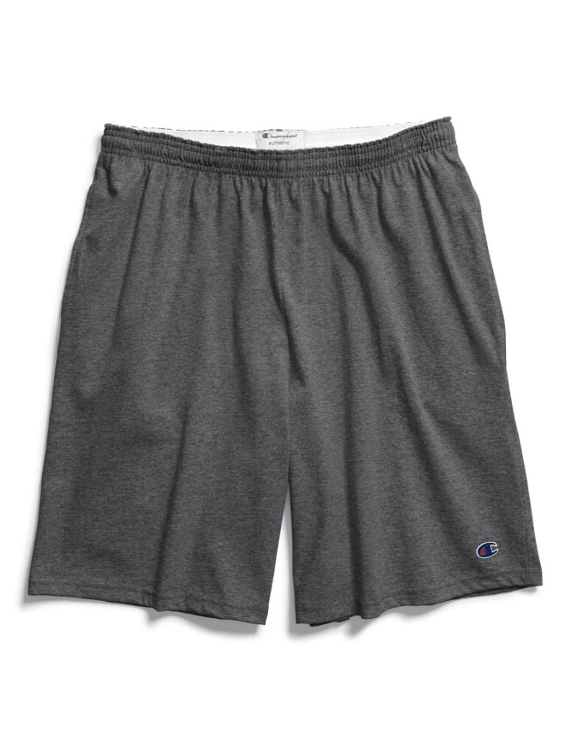 Champion 85653 Authentic Mens Shorts with Pockets - Granite Heather - M 85653