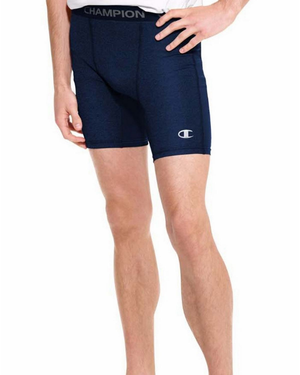 Champion 87294 PowerTrain PowerFlex Solid Compression Shorts - Navy - XL 87294
