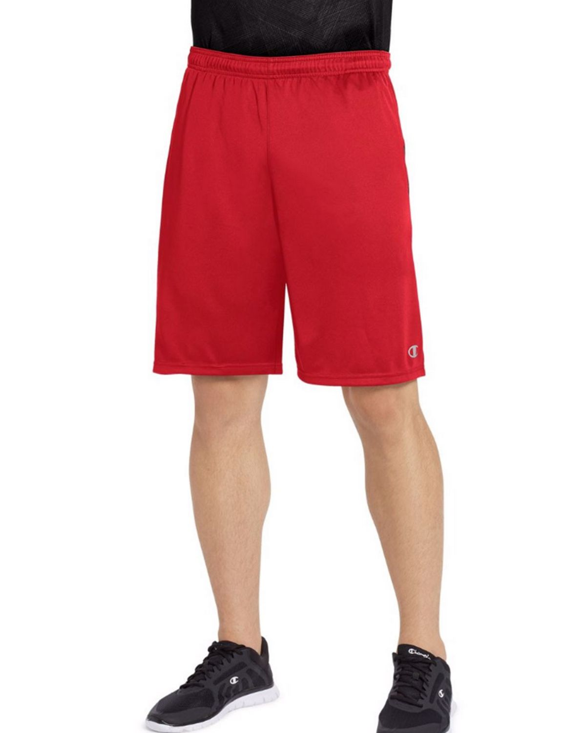 Champion 88125 Vapor Mens Shorts - Scarlet/Black - S 88125
