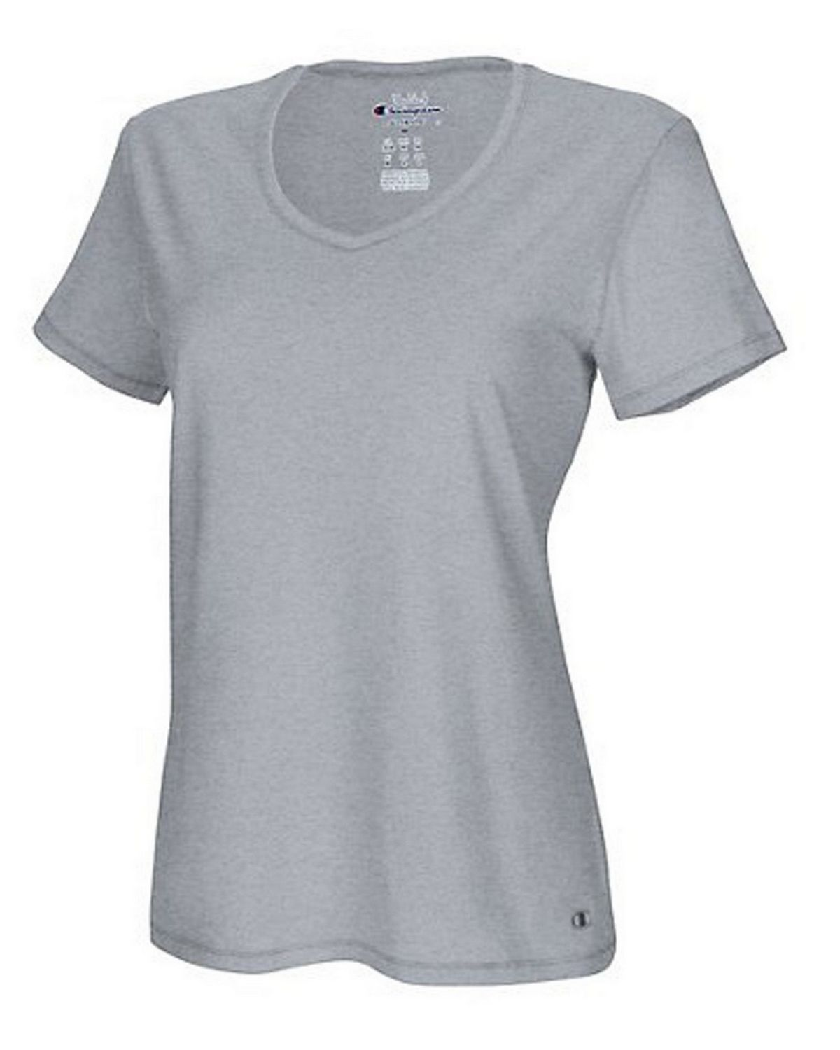 Champion 8875 Authentic Womens Jersey Tee - Oxford Grey - S 8875