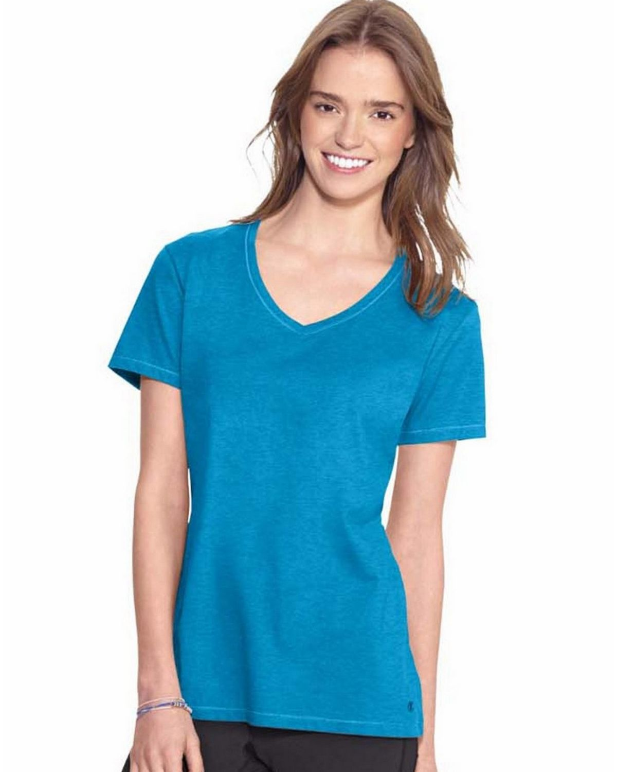 Champion 8875 Authentic Womens Jersey Tee - Underwater Blue Heather - XL 8875