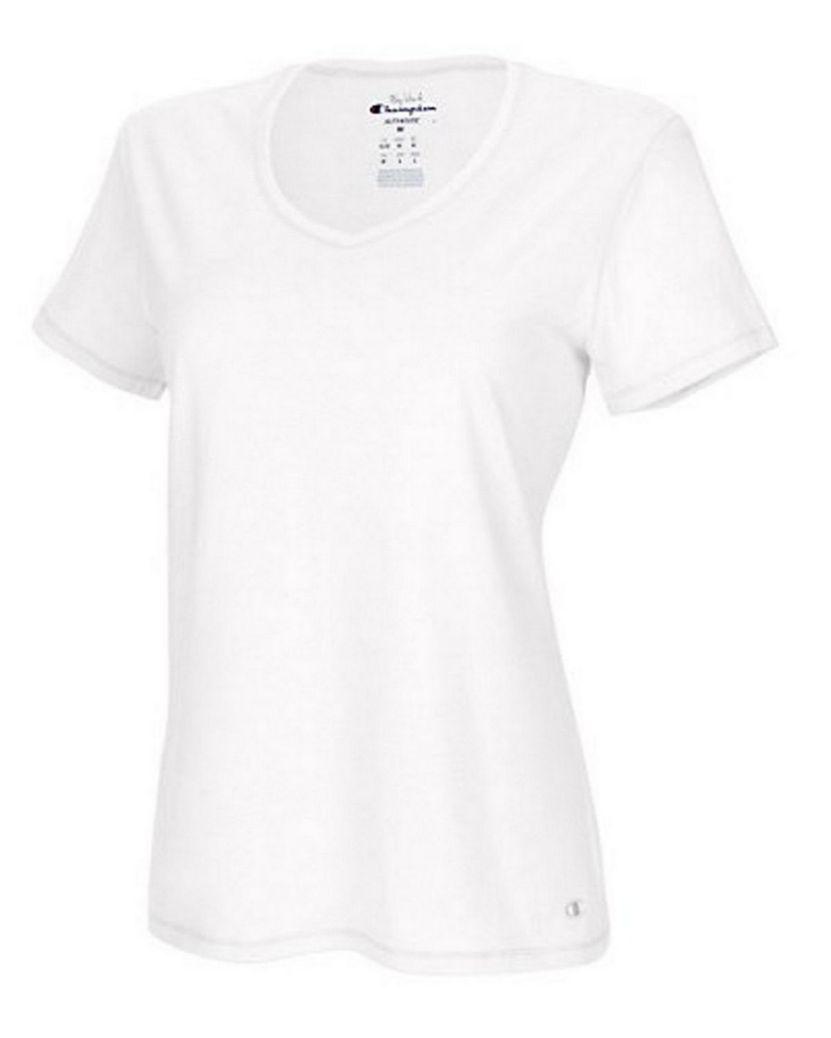 Champion 8875 Authentic Womens Jersey Tee - White - L 8875