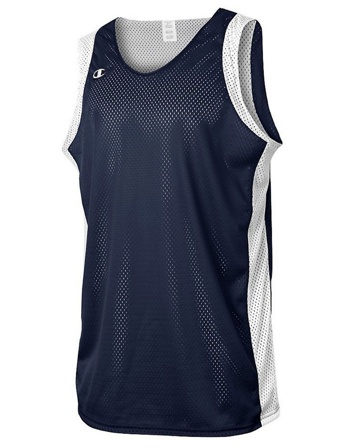 Champion B002 Mens Reversible Jersey - Navy/White - YXL B002