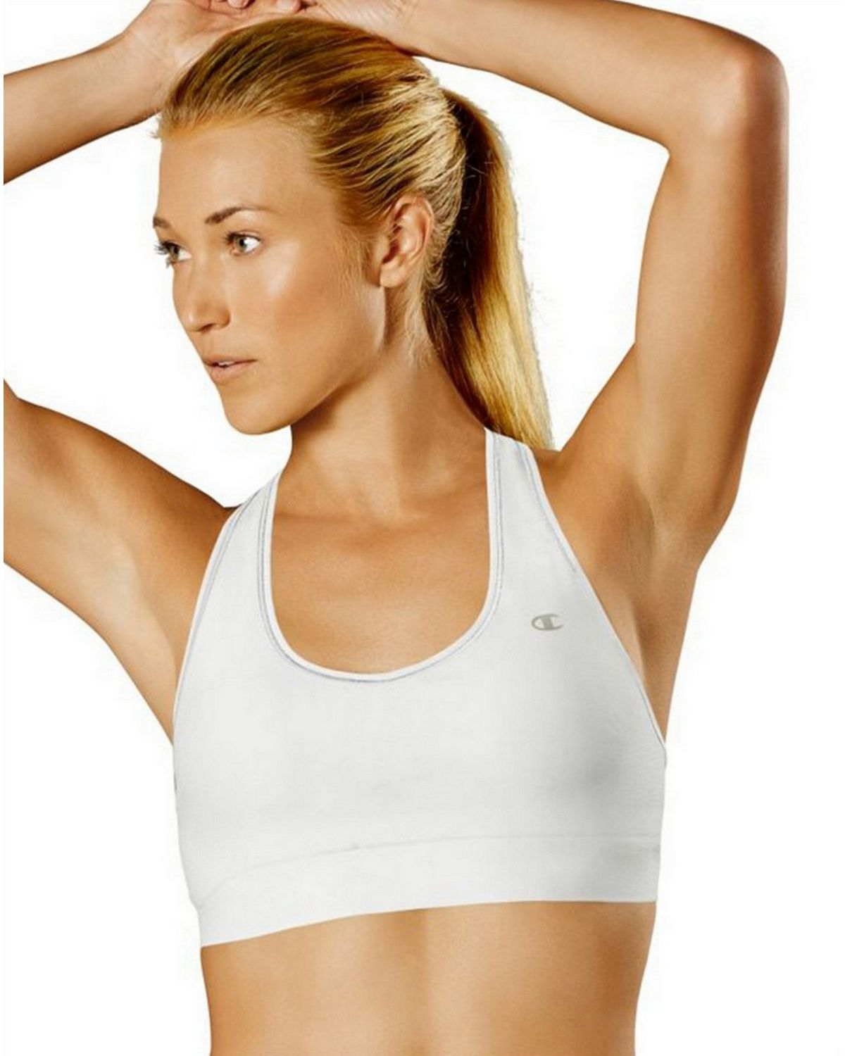 Champion B9504 Absolute Racerback Sports Bra - White - L B9504