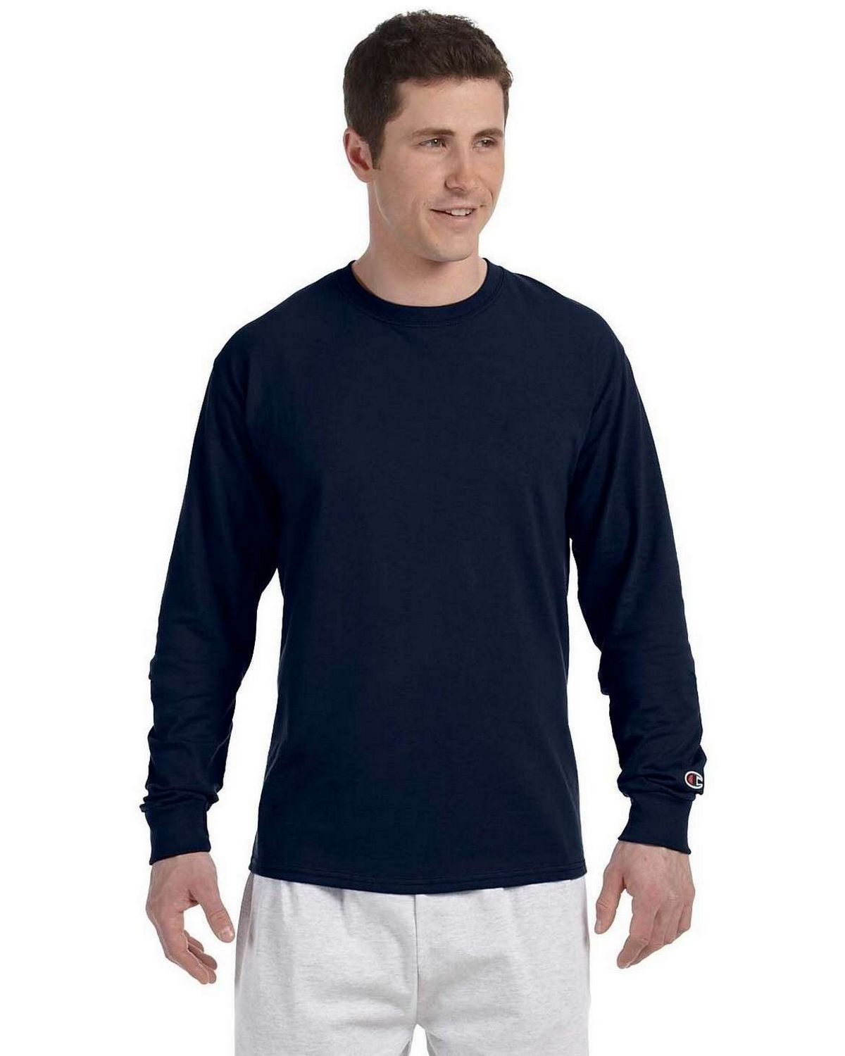 Champion CC8C Long-Sleeve T-Shirt - Navy - L CC8C