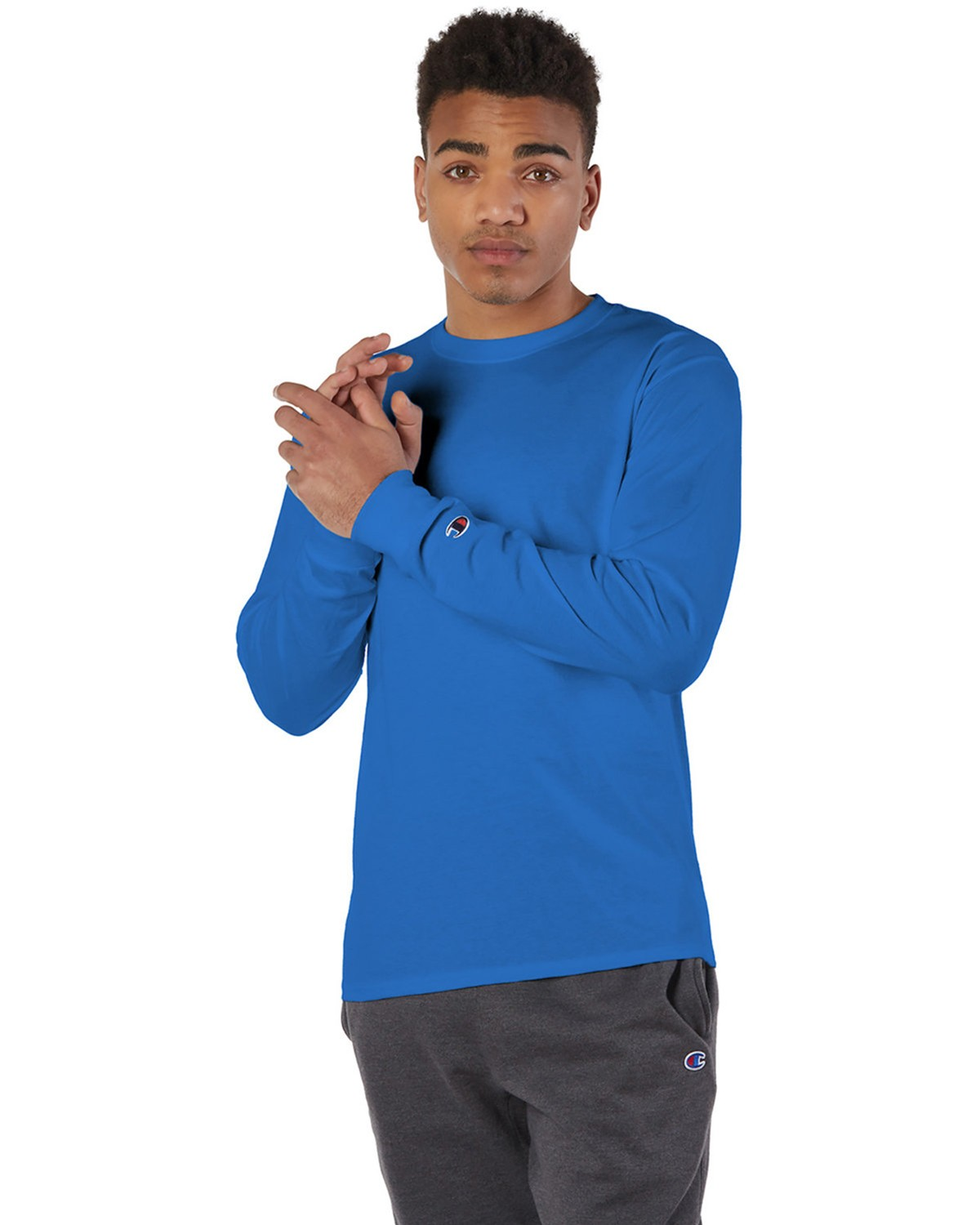 Champion CC8C Long-Sleeve T-Shirt - Royal Blue - M CC8C