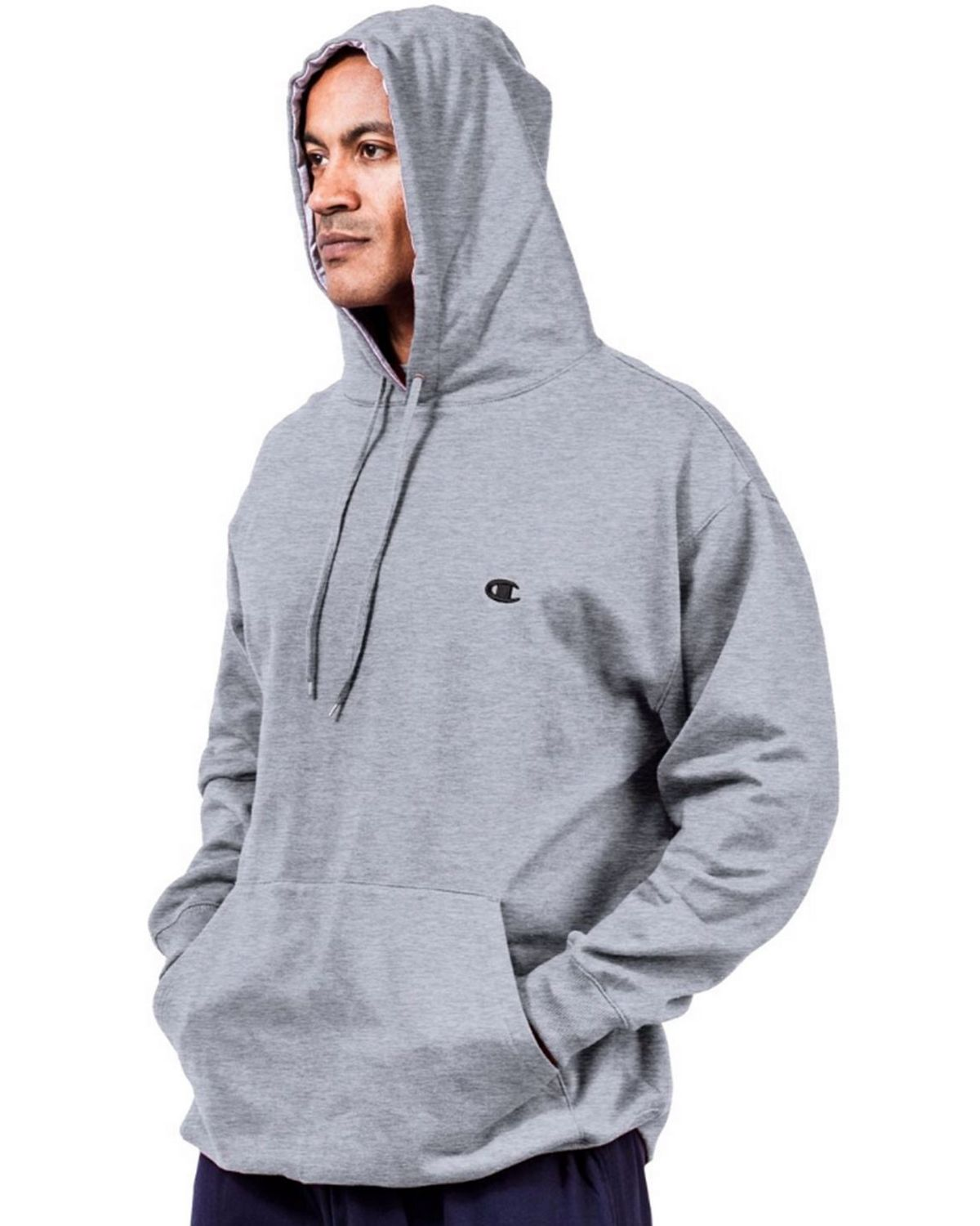 Champion CH101 Big & Tall Mens Pullover Fleece Hoodie - Granite Heather - XLT CH101