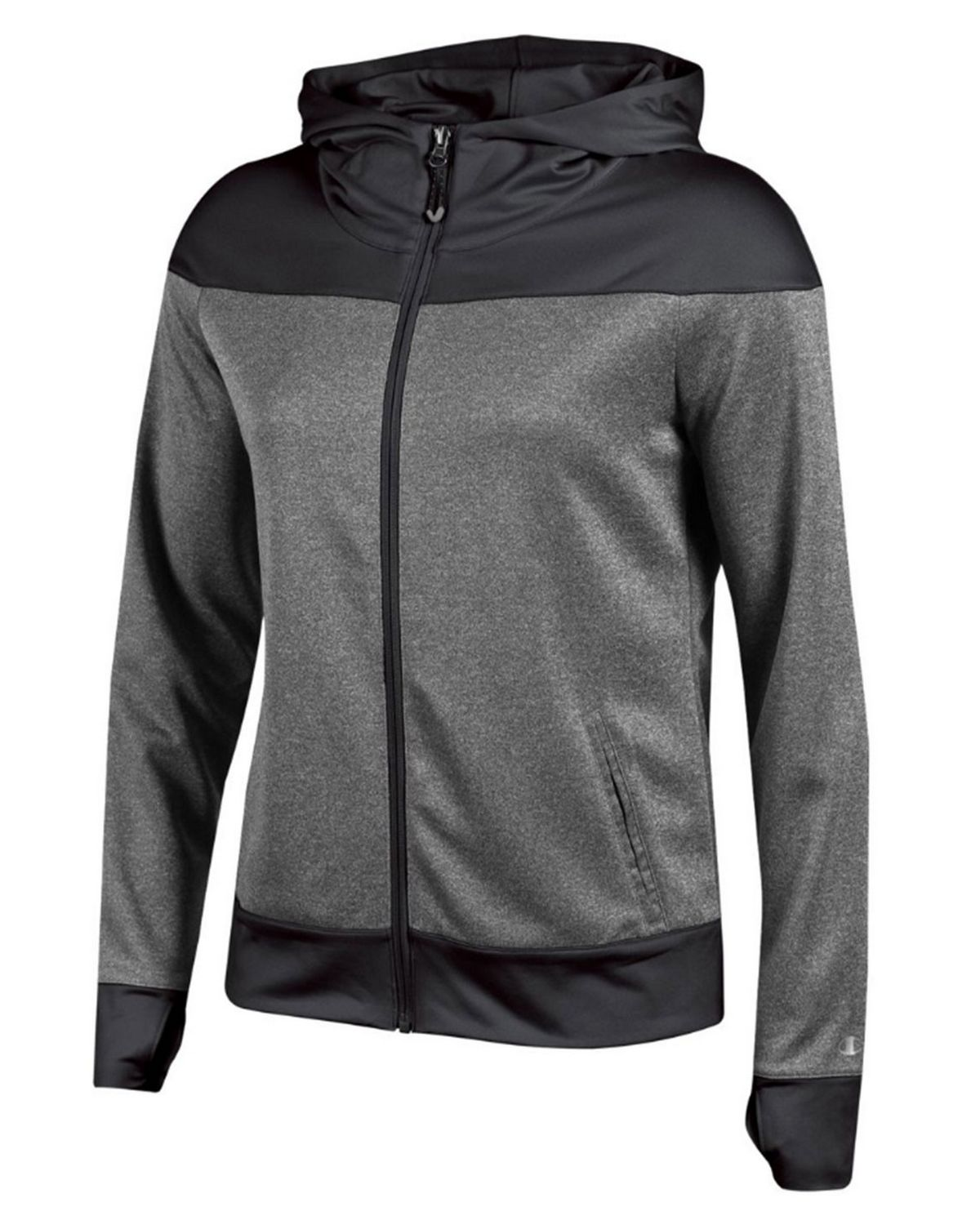 Champion G5081 Womens Full Zip Hoodie - Black - XS G5081