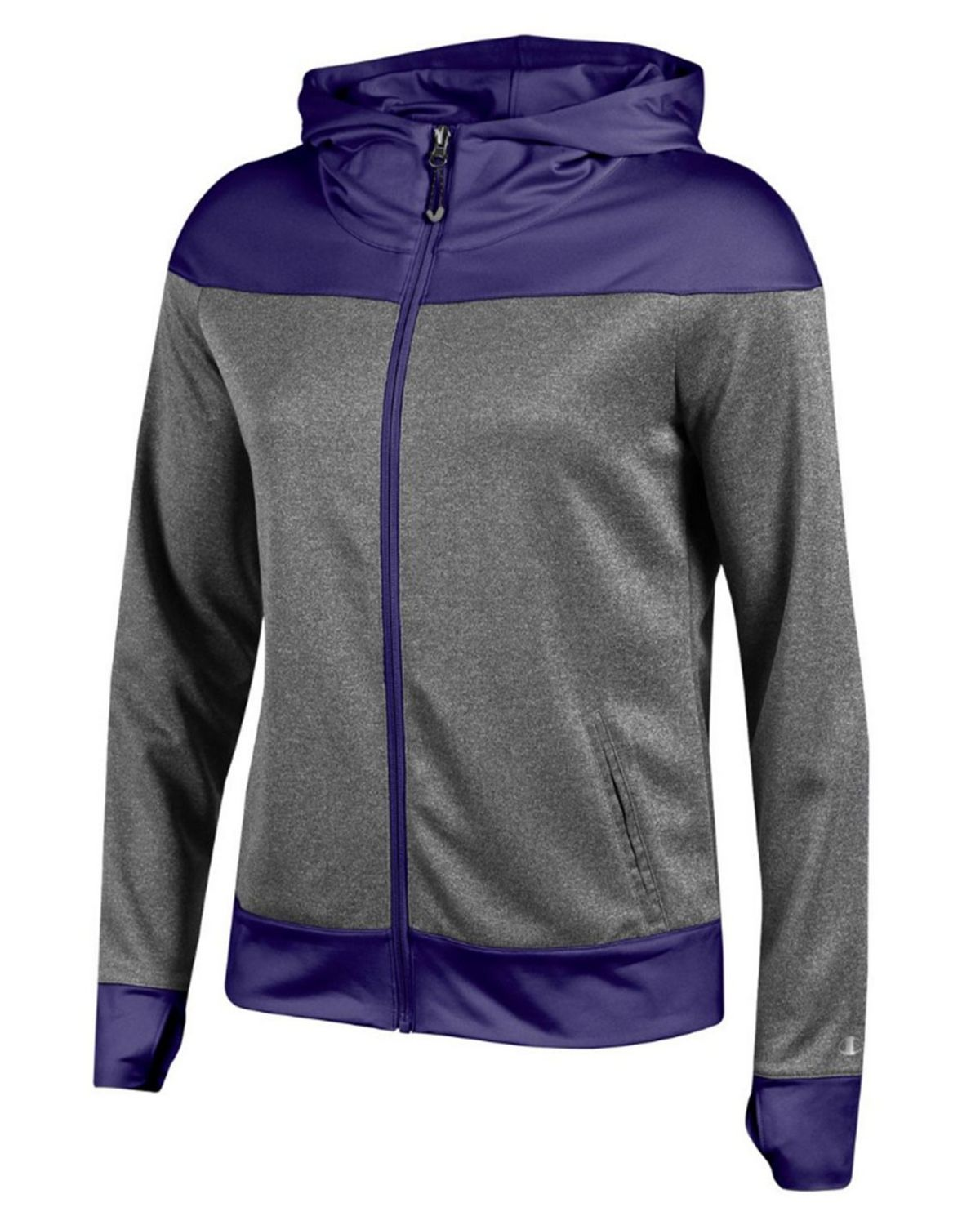 Champion G5081 Womens Full Zip Hoodie - Purple - XS G5081