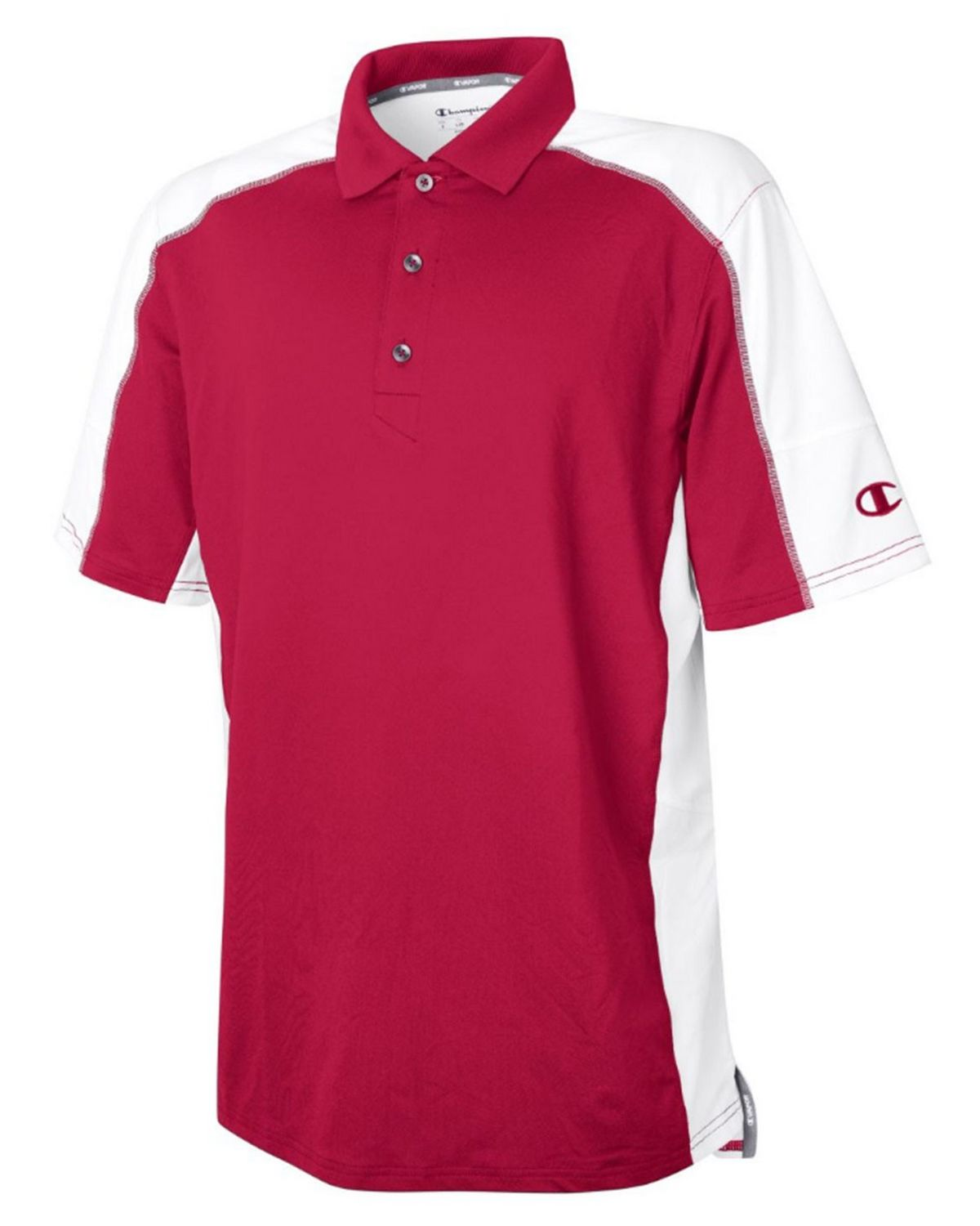 Champion H001 Mens Vapor Polo Shirt - Scarlet/White - XL H001