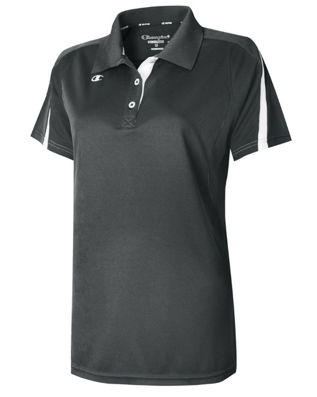 Champion H912 Women's Victory Vapor Polo Shirt - Black/White - XS #vapor