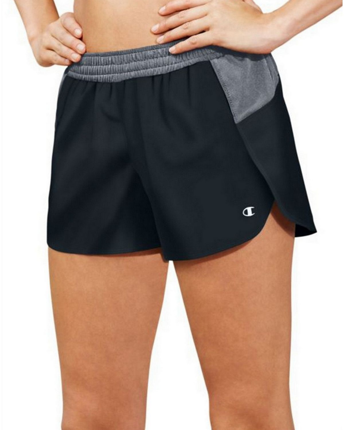 Champion M0570 Womens Sport Shorts 5 - Black/Medium Grey - M M0570