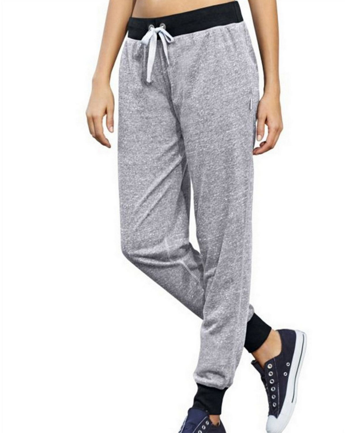 Champion M0586 Womens Jogger Pants - Oxford Grey/Black - XL M0586