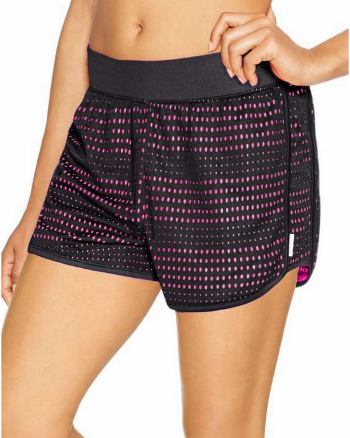 Champion M0602 Womens Mesh Shorts - Black/Pinksicle - S M0602