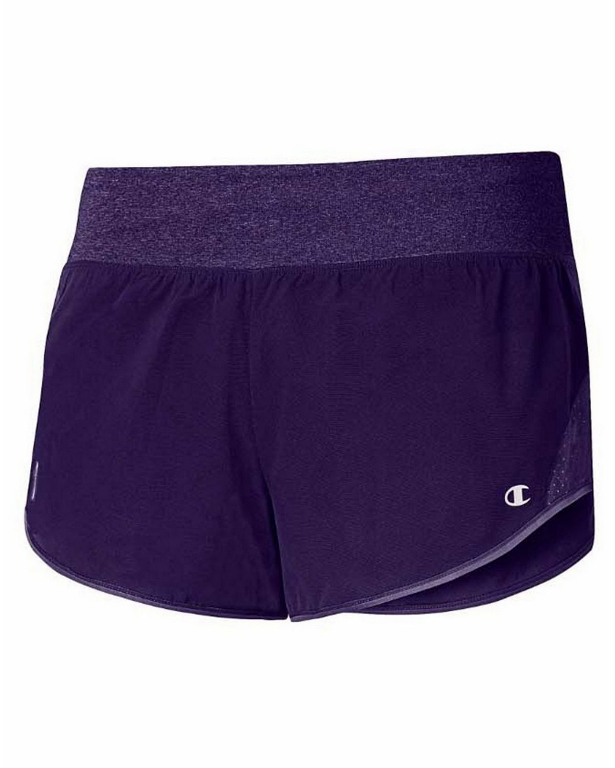 Champion M0912t Gear Womens Shorts With Brief - Mystic Purple/Mystic Purp Htr - M M0912T