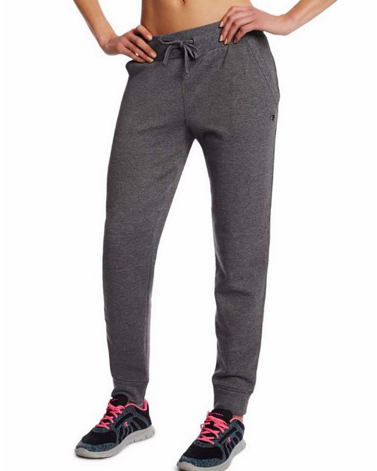 Champion M0937 Womens Fleece Jogger Pants - Granite Heather - L M0937