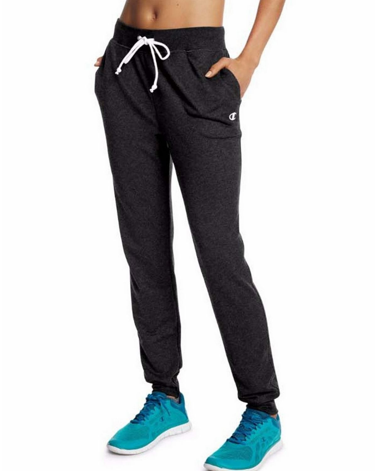 Champion M0944 Womens French Jogger Pants - Black - XL M0944