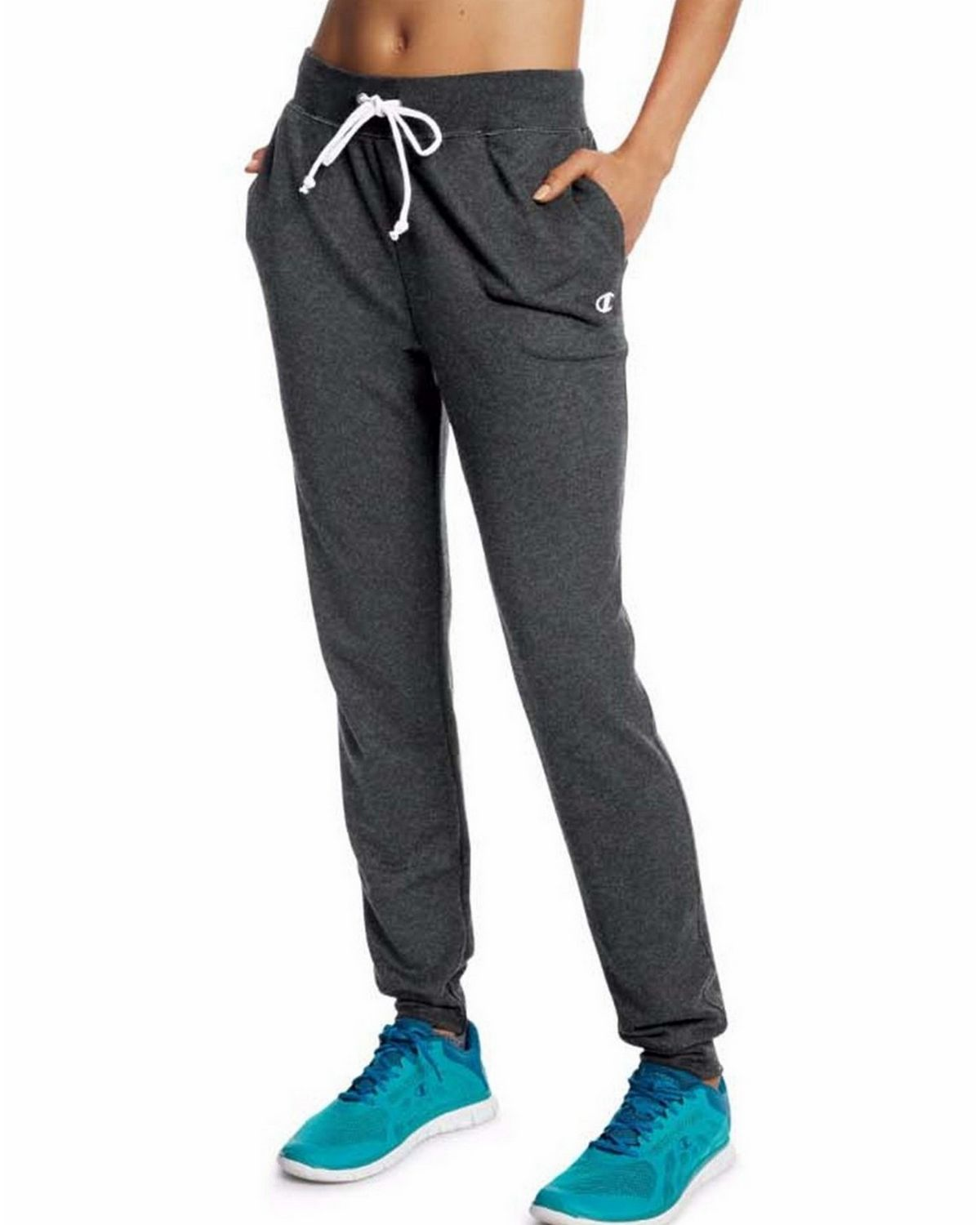 Champion M0944 Womens French Jogger Pants - Granite Heather - XL M0944