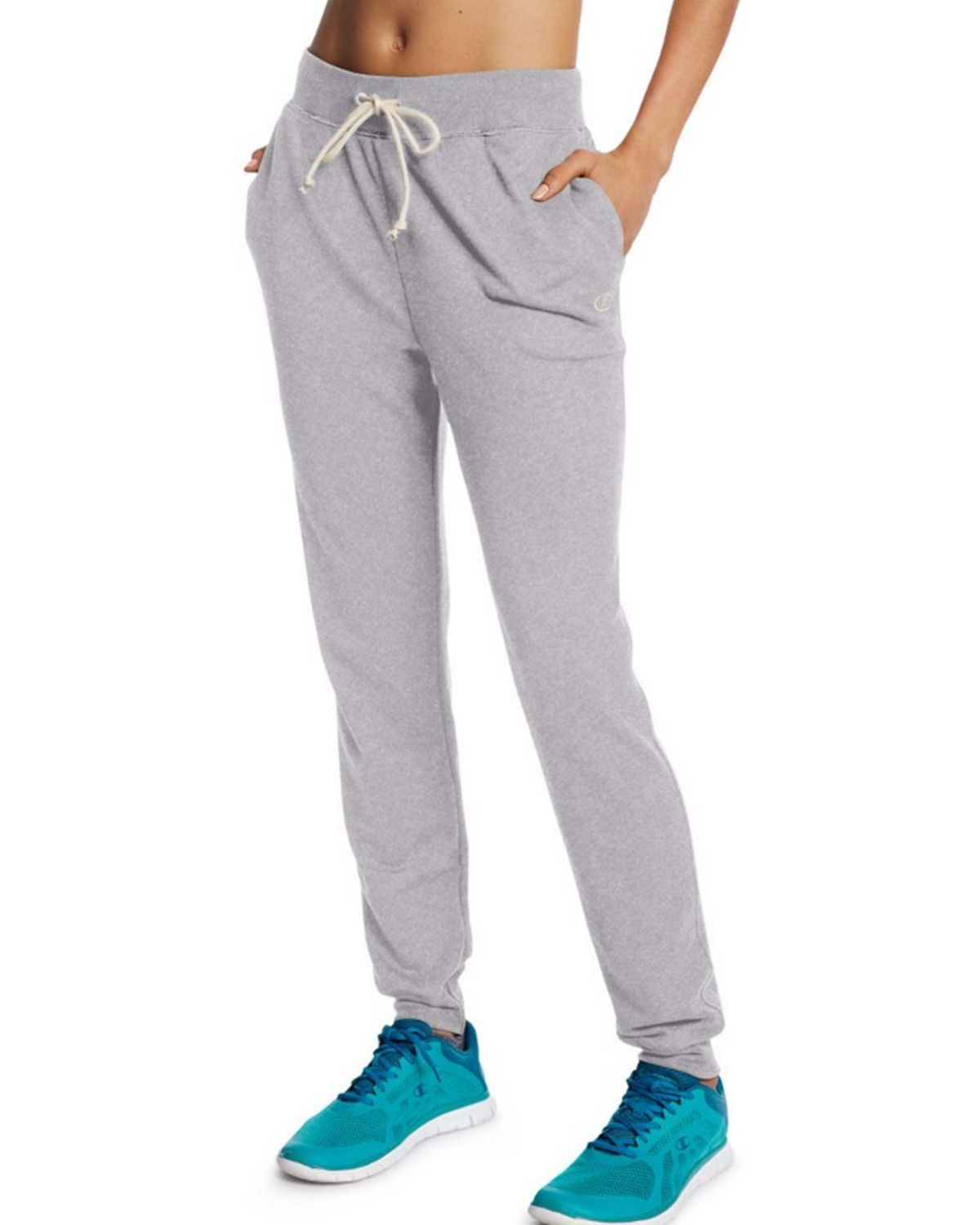 Champion M0944 Womens French Jogger Pants - Oxford Grey Heather - XL M0944