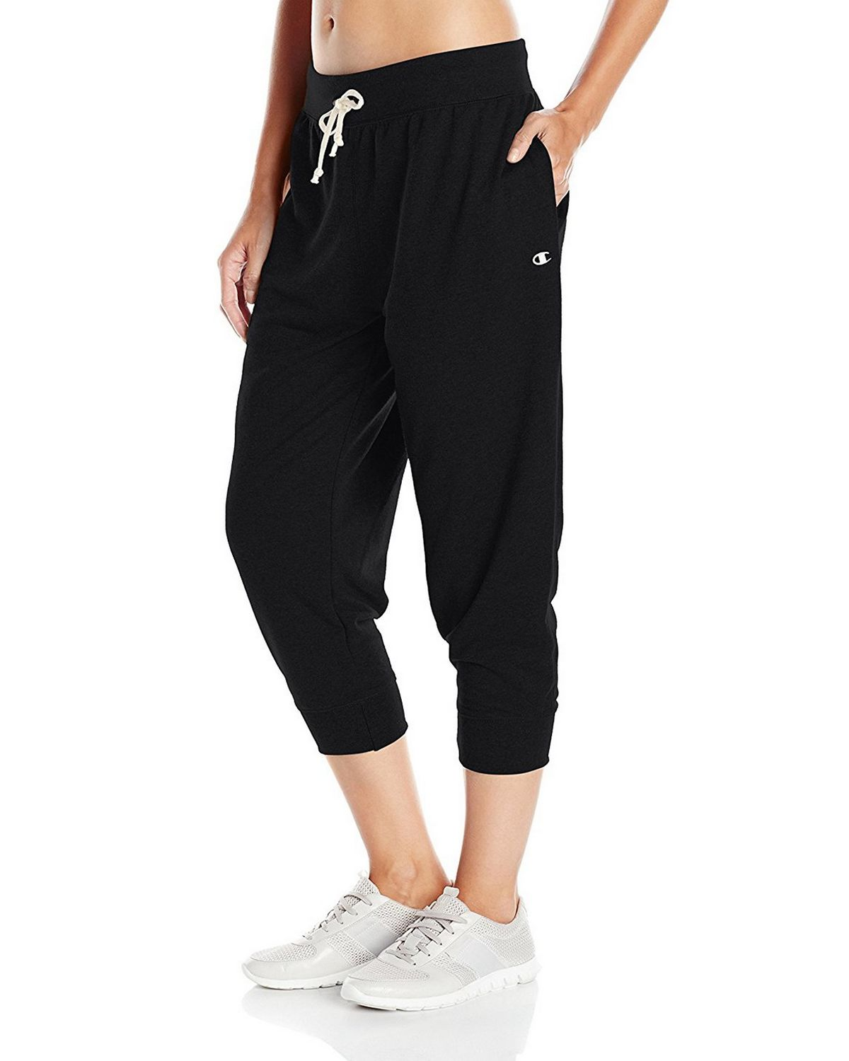 Champion M0945 Womens French Jogger Capris - Black - S M0945