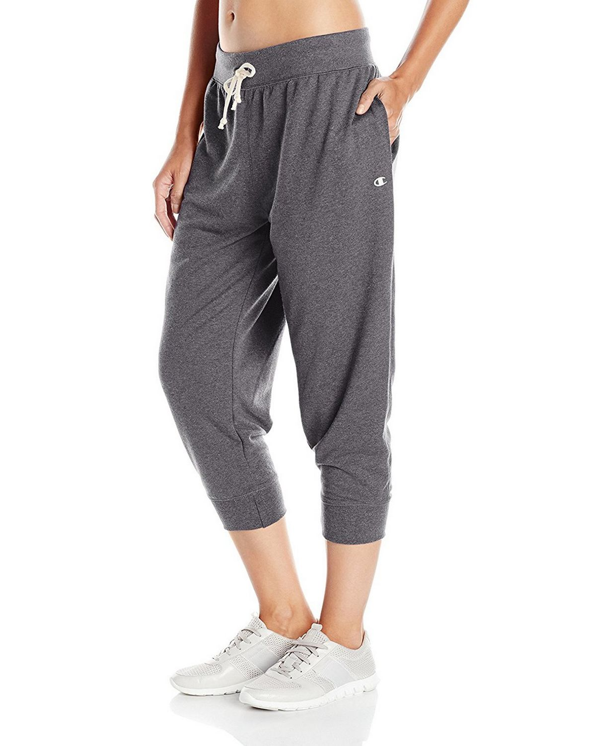 Champion M0945 Womens French Jogger Capris - Granite Heather - L M0945