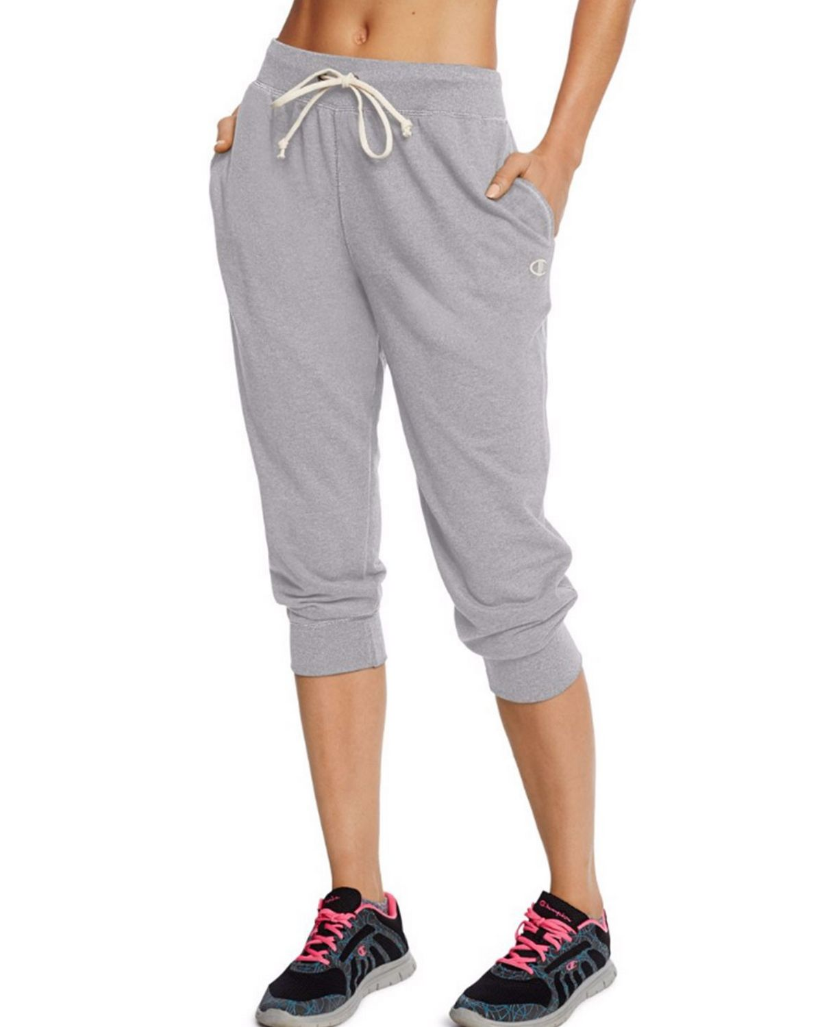 Champion M0945 Womens French Jogger Capris - Oxford Grey Heather - XL M0945